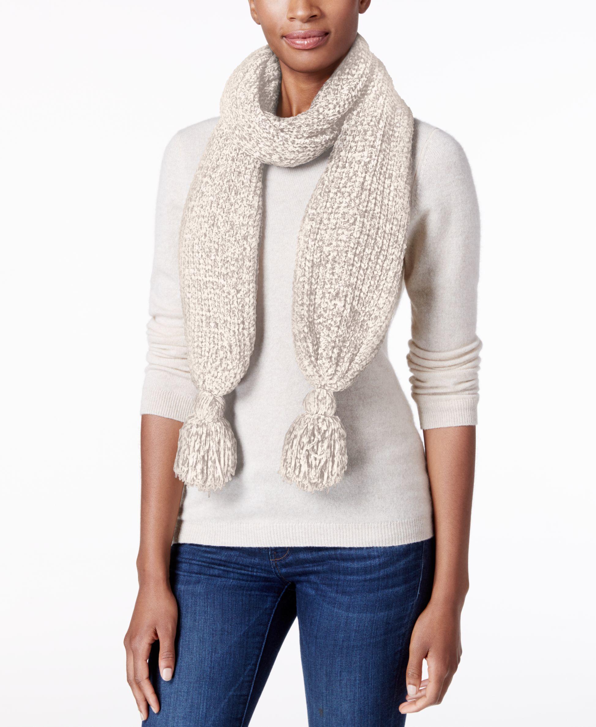 charter club velvety tassel chenille scarf only at macy s