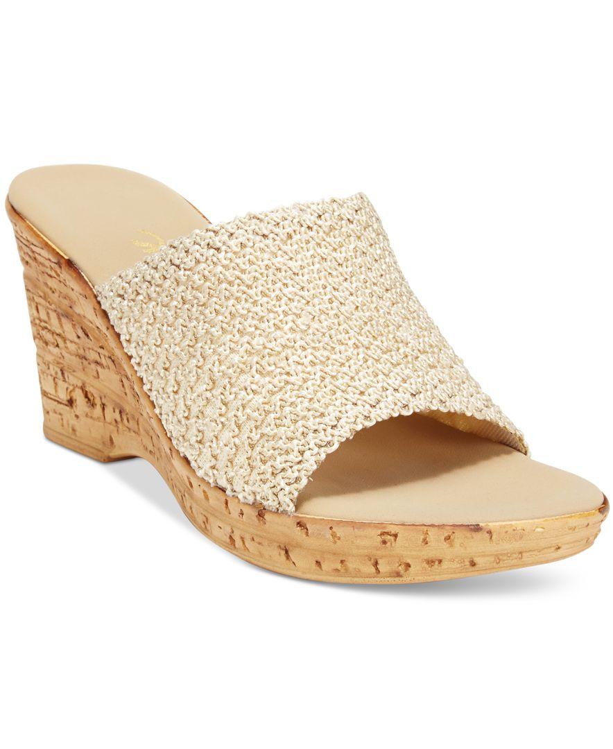1280edf8a416 Lyst - Onex Bianca-2 Platform Wedge Sandals in Natural