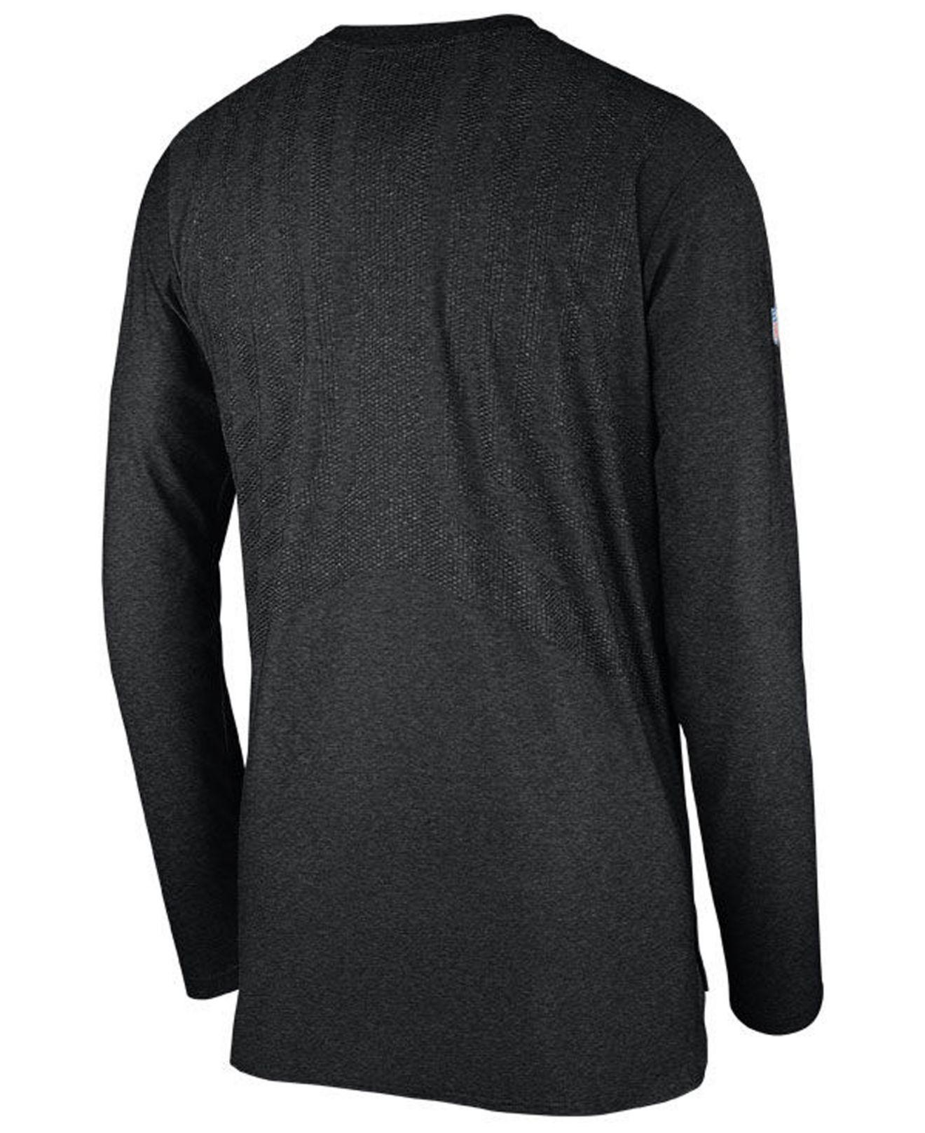 Lyst - Nike Dri-fit Player (nfl Raiders) Men s Long Sleeve Top in Black for  Men - Save 50% 526df52b3