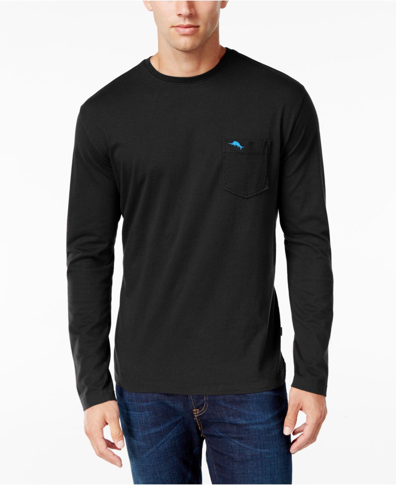 Lyst Tommy Bahama Men 39 S Pima Long Sleeve T Shirt In