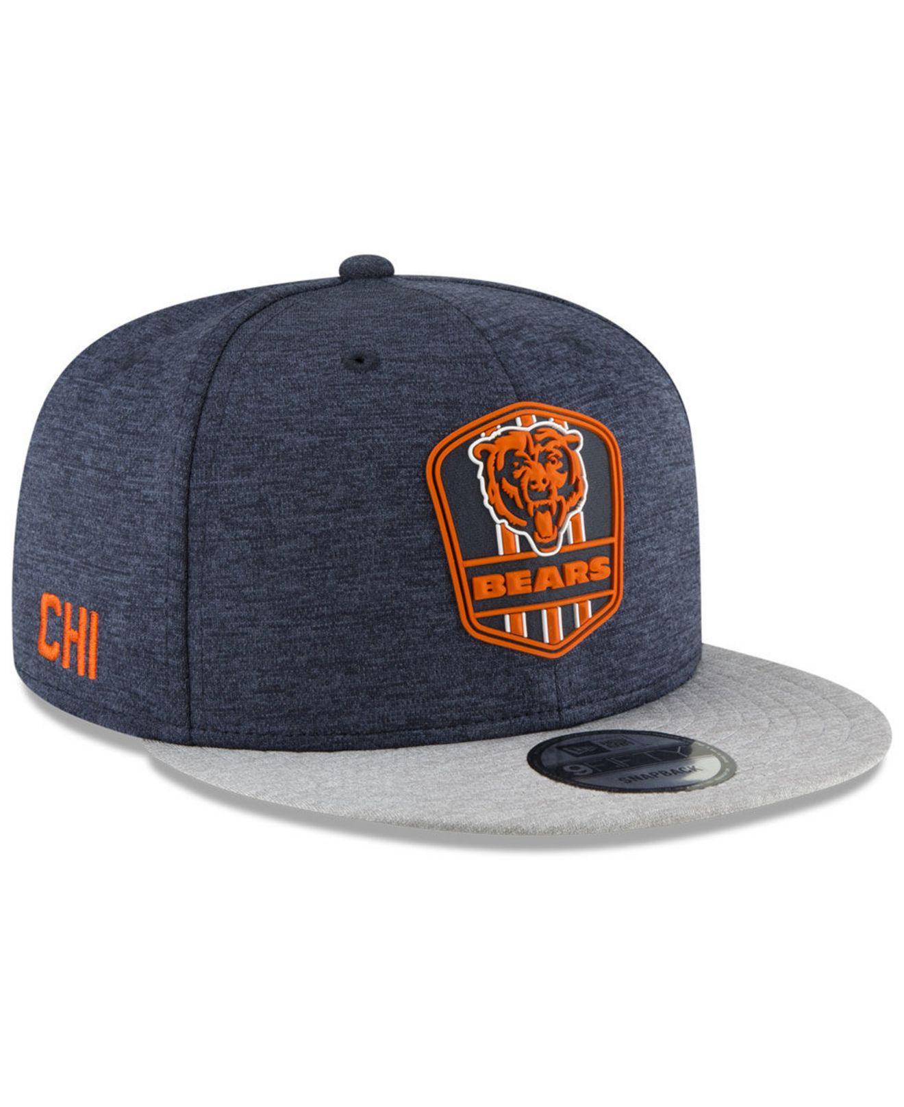 f04ede88561 Lyst - Ktz Chicago Bears On Field Sideline Road 9fifty Snapback Cap ...