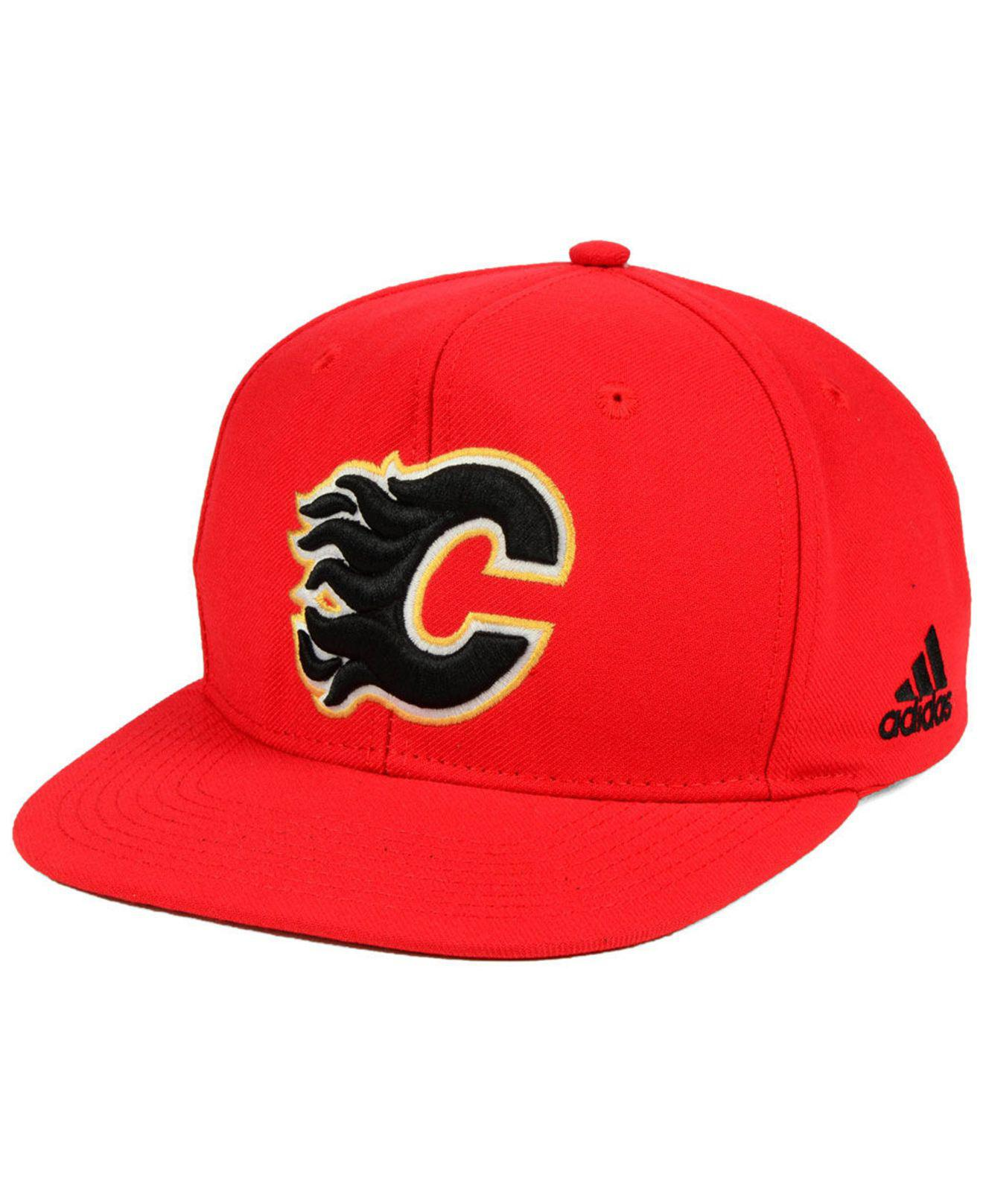 cheaper 05747 b2f56 ... canada adidas. mens red calgary flames core snapback cap 76961 58ceb