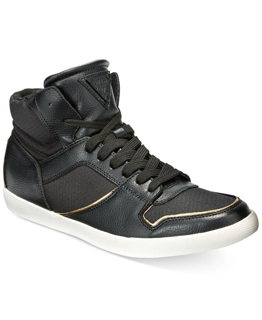 Guess Men's Jumper Mid-top Sneakers in Black for Men | Lyst