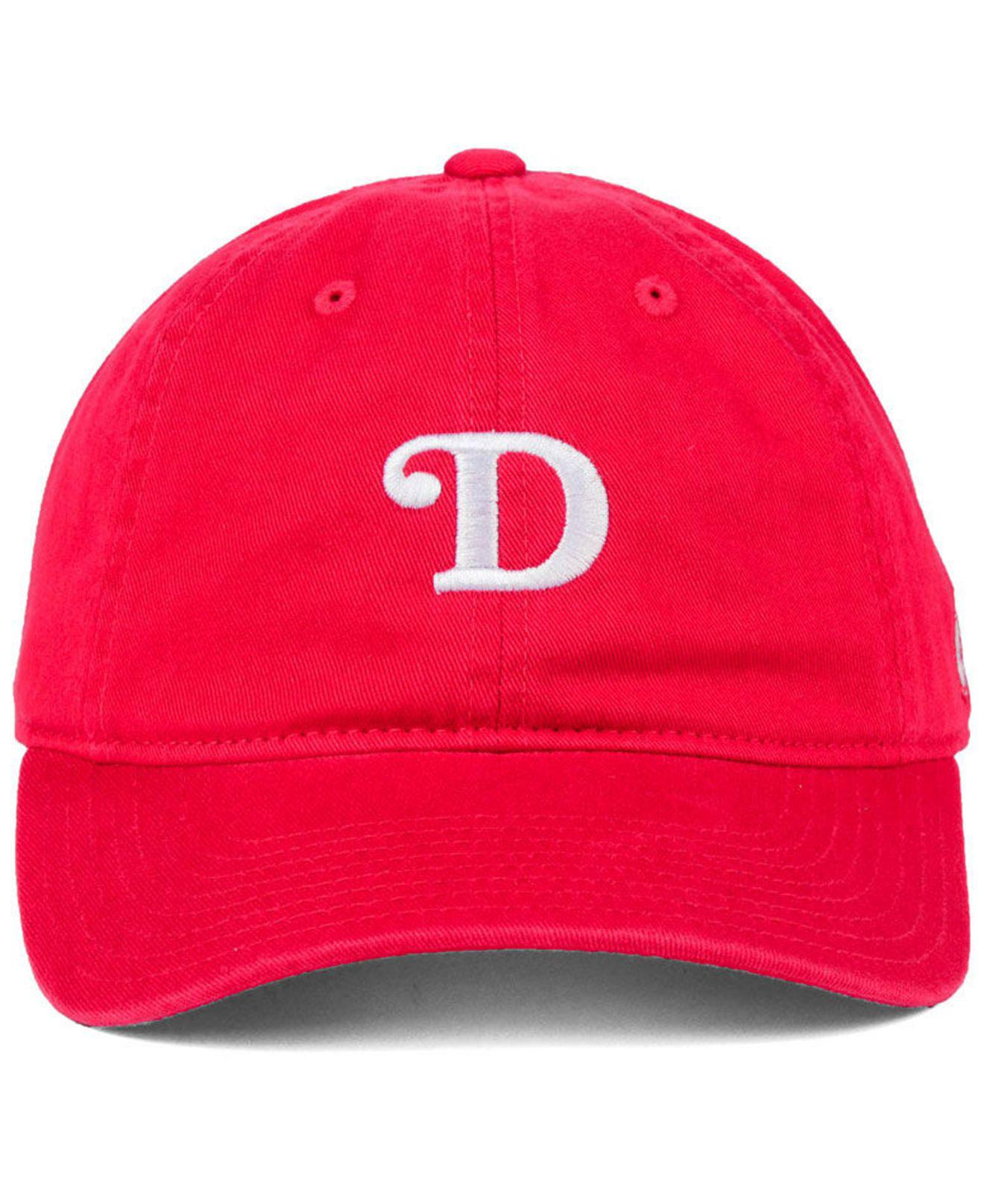 Lyst - Adidas Detroit Red Wings Element Logo Adjustable Cap in Red ... 2920ed514