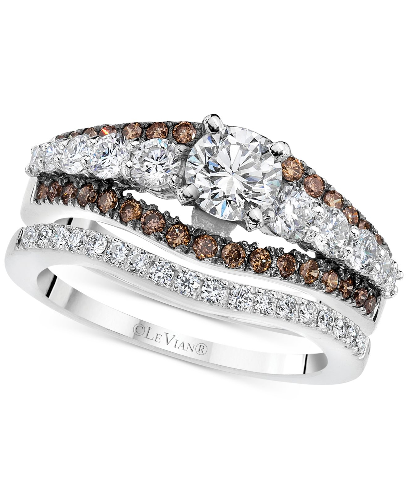 Le vian Bridal Diamond Bridal Set 1 1 2 Ct T w In 14k White Gold in Multi