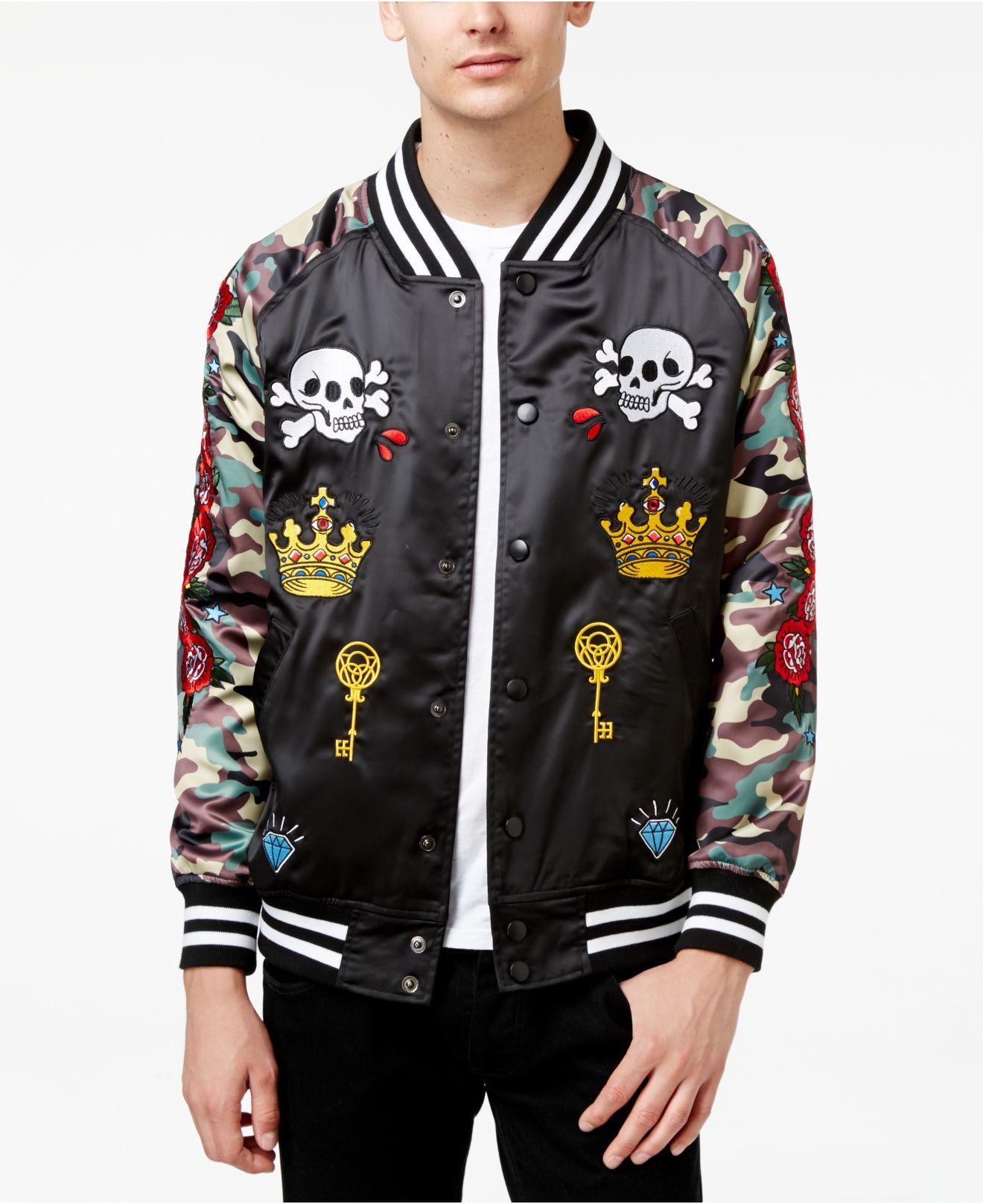 Velvet Bomber Jacket Mens Reason Clothing