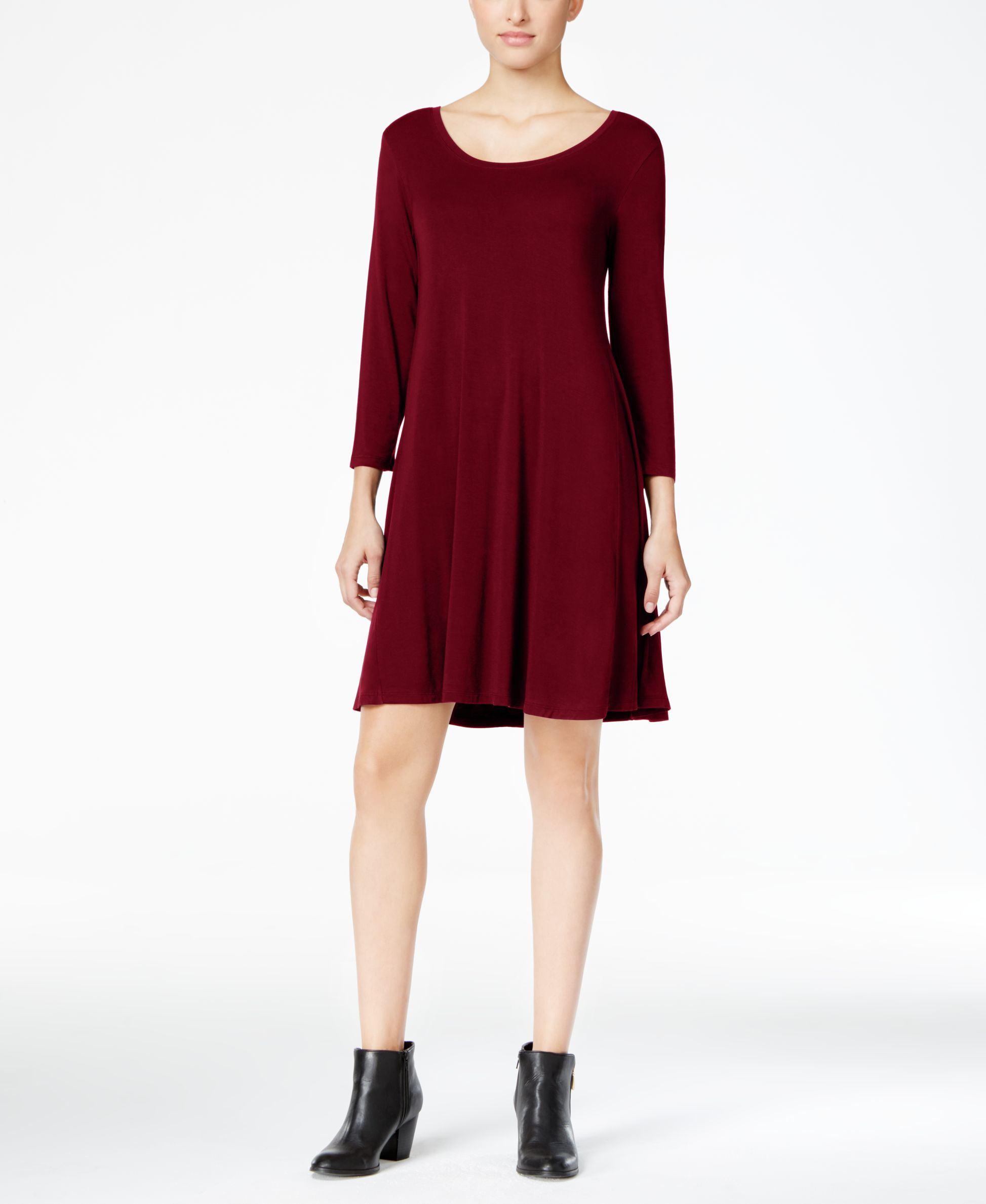Lyst Style Co Swing Dress Only At Macy 39 S In Red