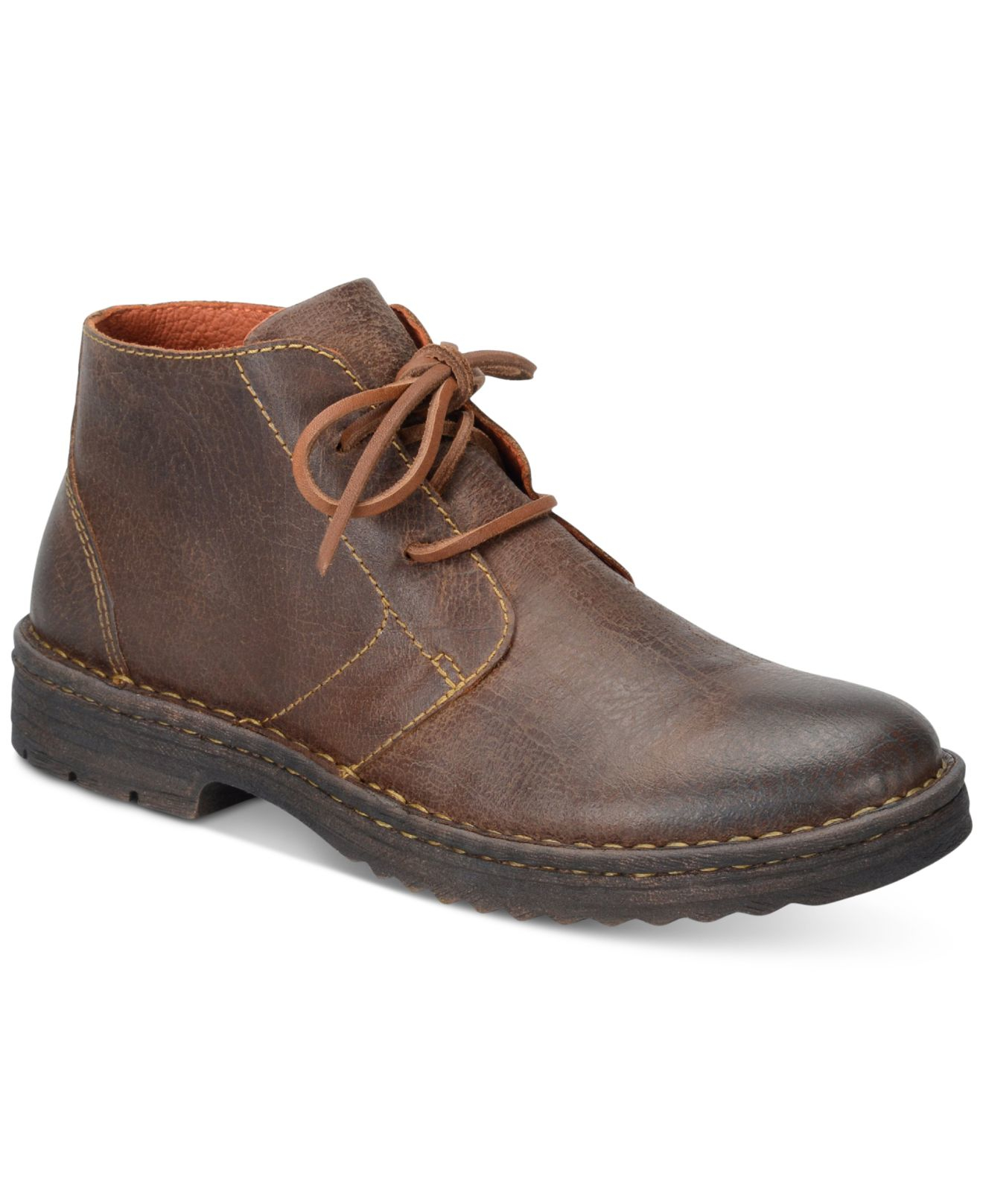 Born Men S Limon Plain Toe Boots In Brown For Men Lyst