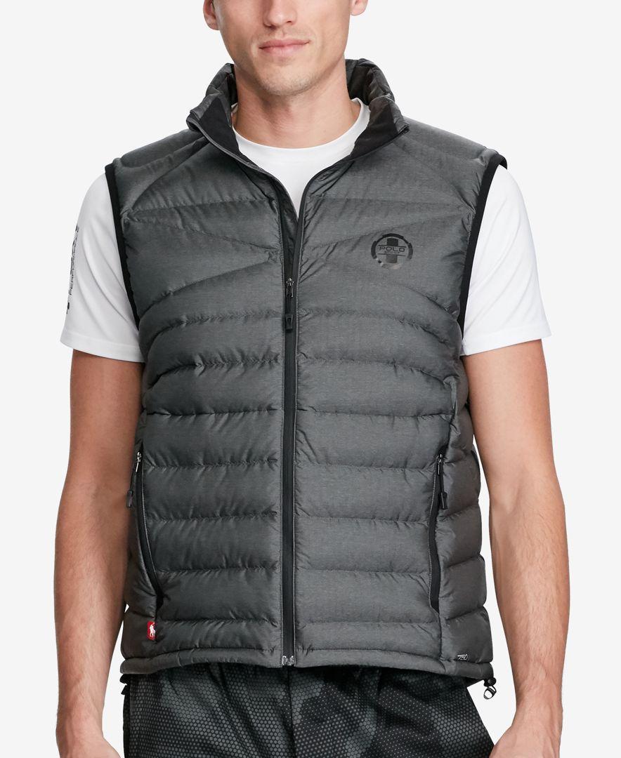 1ea3e9f1e Lyst - Polo Ralph Lauren Polo Sport Men s Packable Down Vest in Gray ...