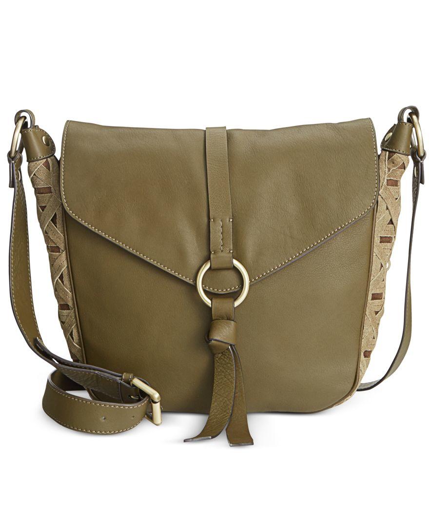 Nanette Lepore Aspen Iii Flap Crossbody Saddle Bag In