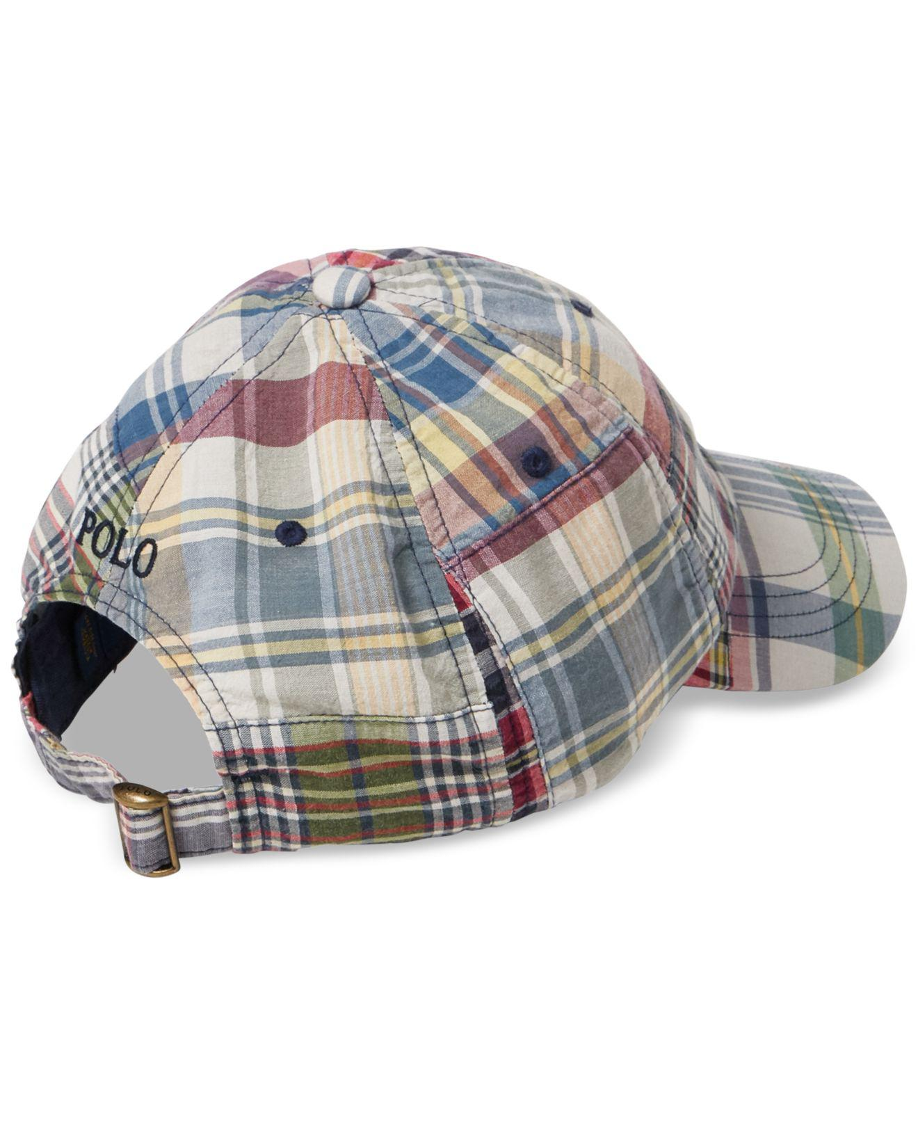 298ad479c93 Lyst - Polo Ralph Lauren Madras Baseball Cap for Men