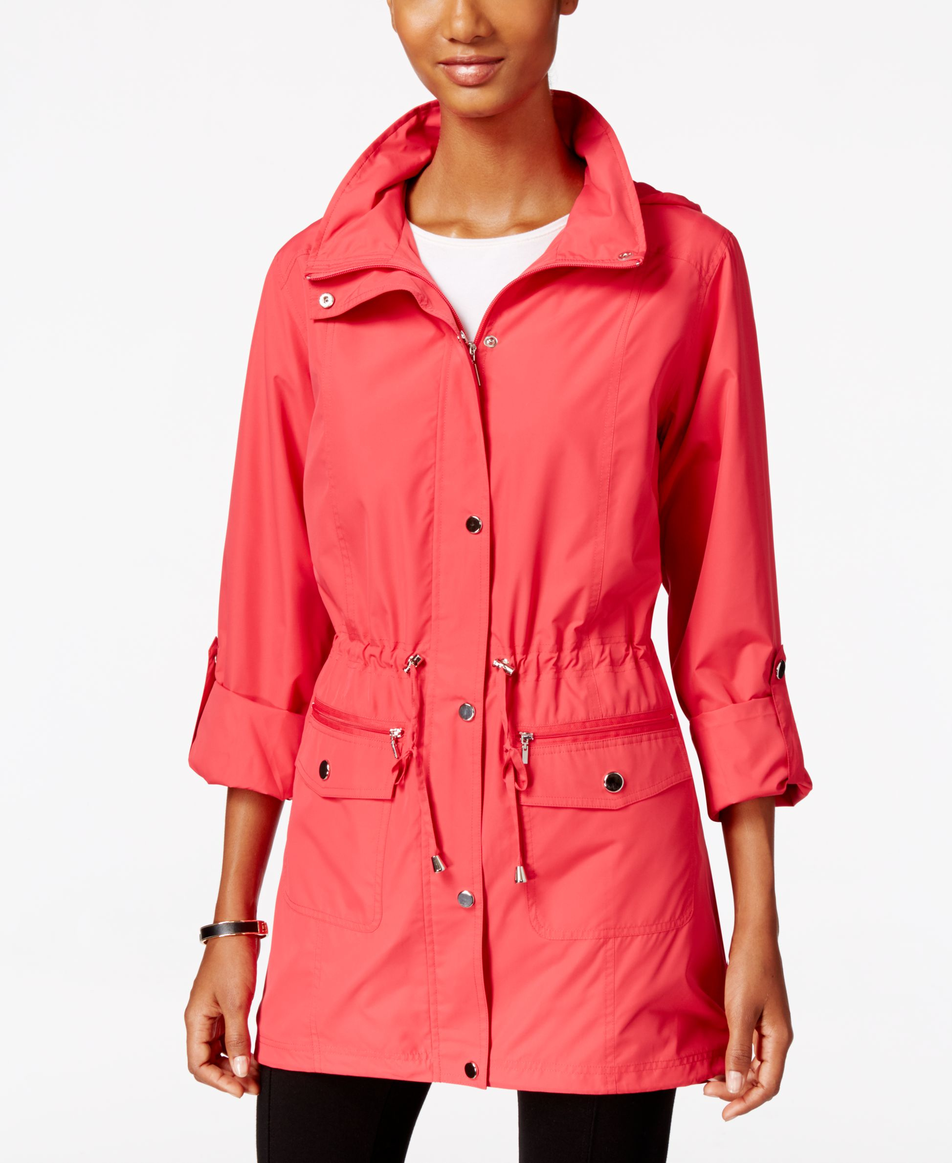 Style U0026 Co. Hooded Anorak Jacket Only At Macyu0026#39;s In Red | Lyst