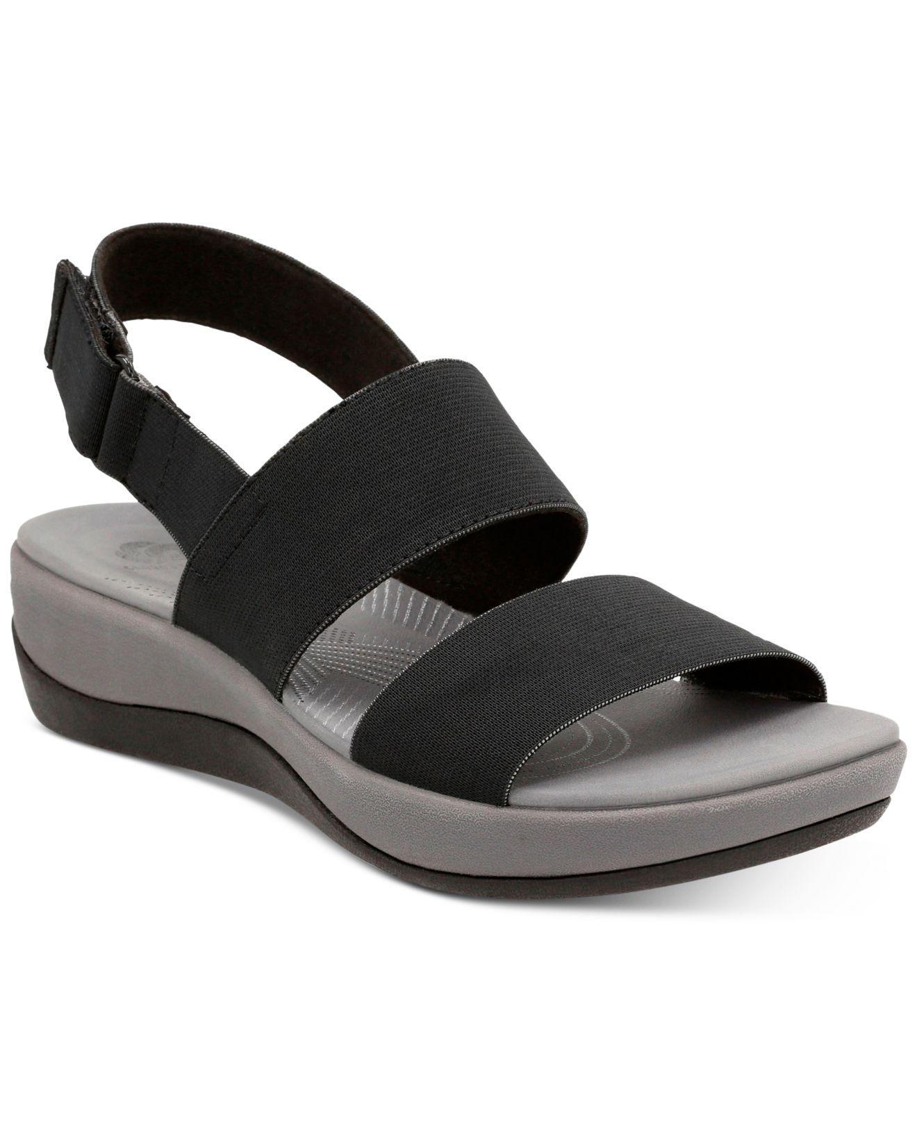 Clarks Women S Arla Jacory Flat Sandals In Black Lyst