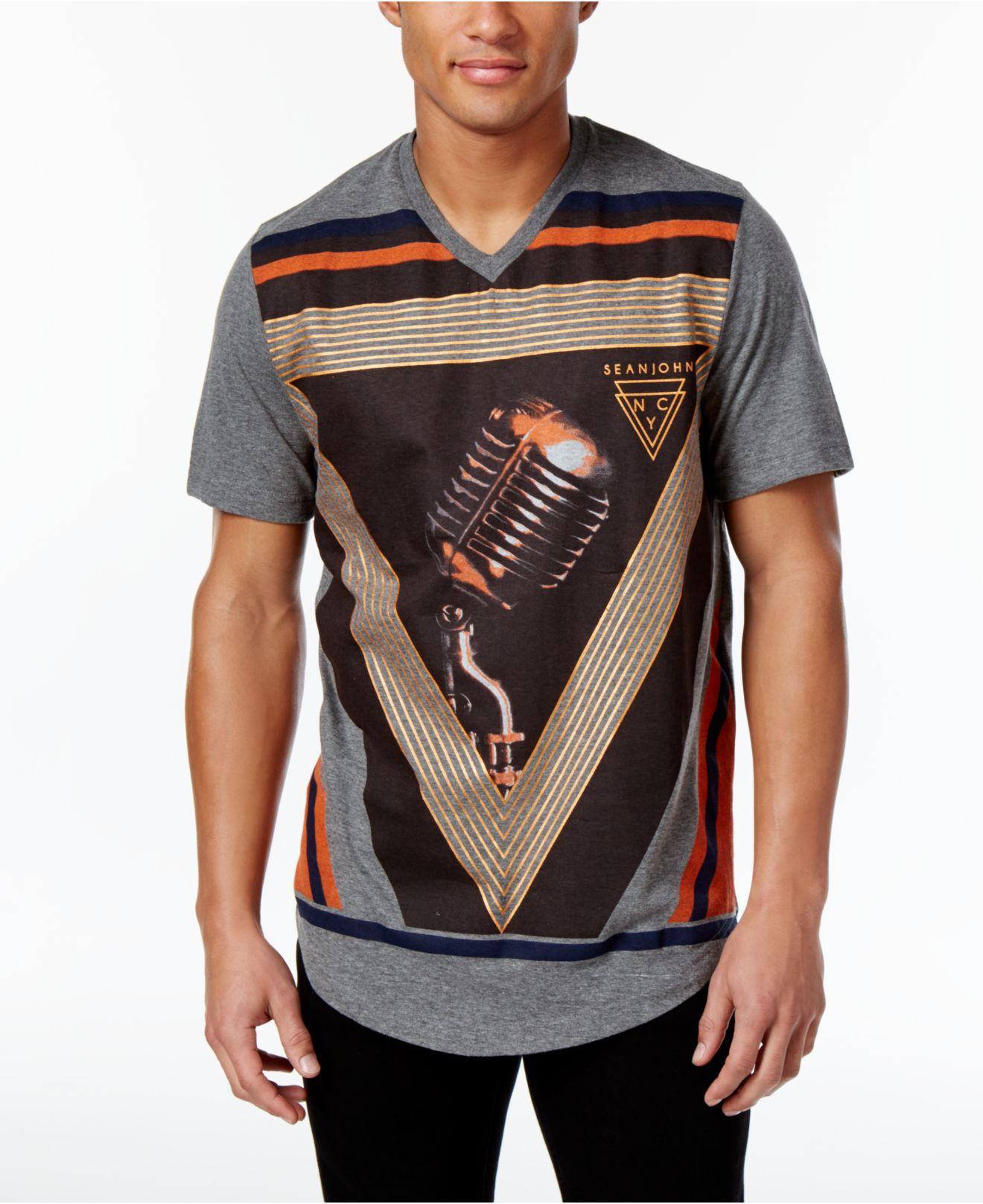 Lyst sean john mens 39 graphic print t shirt only at macy for Sean john t shirts for mens
