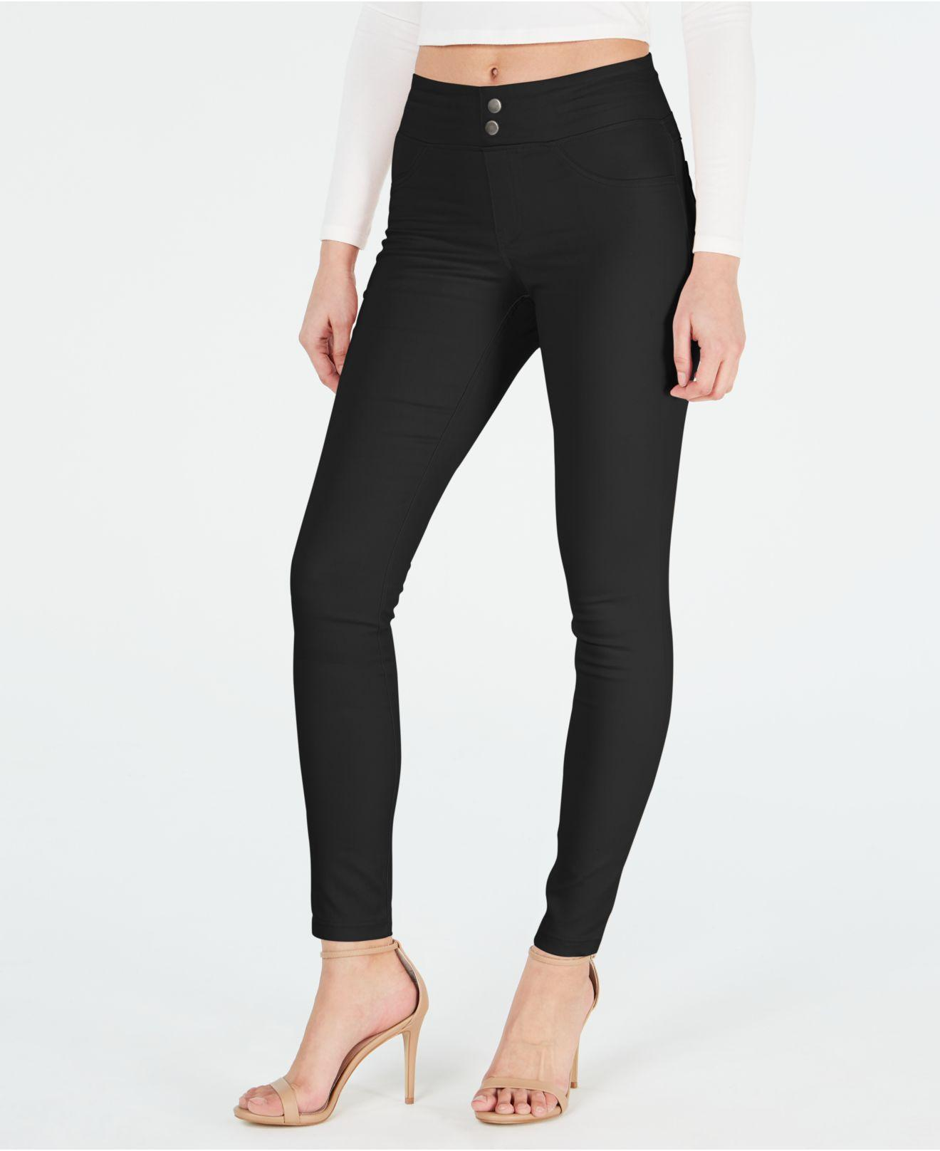cd8852ac1521cd Lyst - Hue ® Classic Smooth Denim Leggings, Created For Macy's in Black