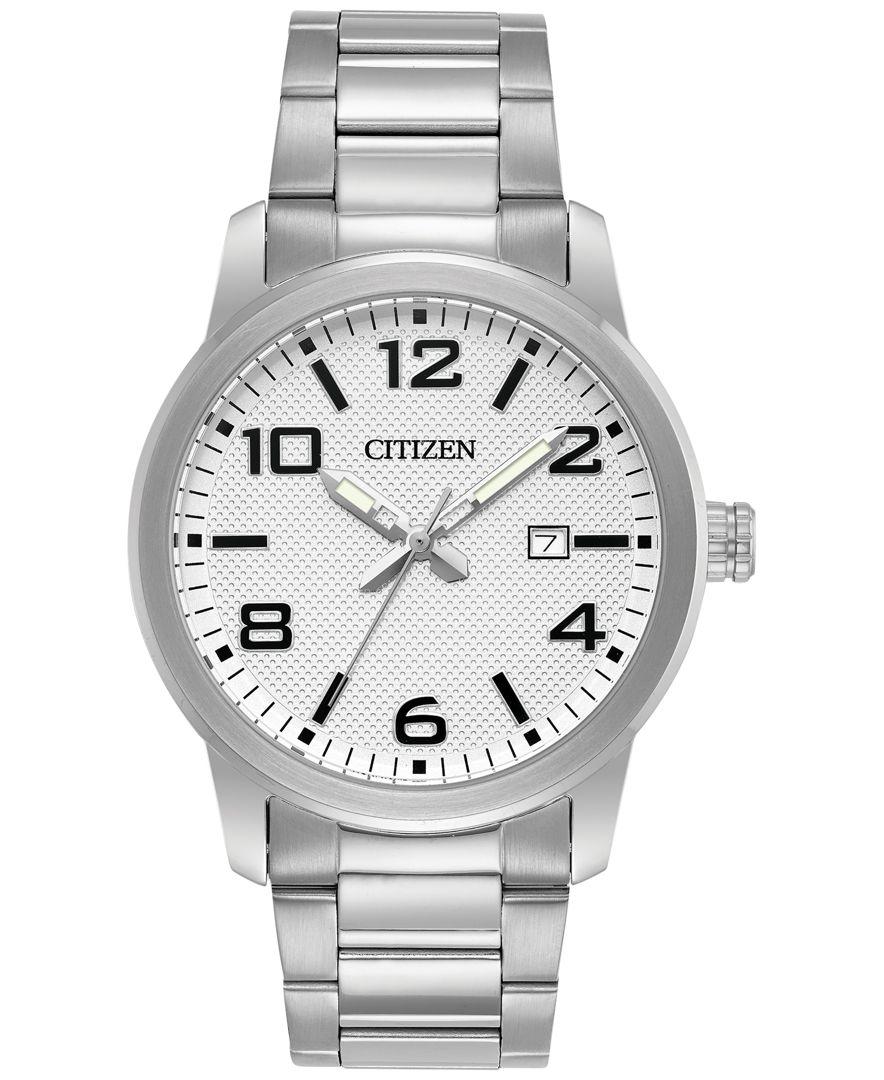 citizen s quartz stainless steel bracelet 42mm