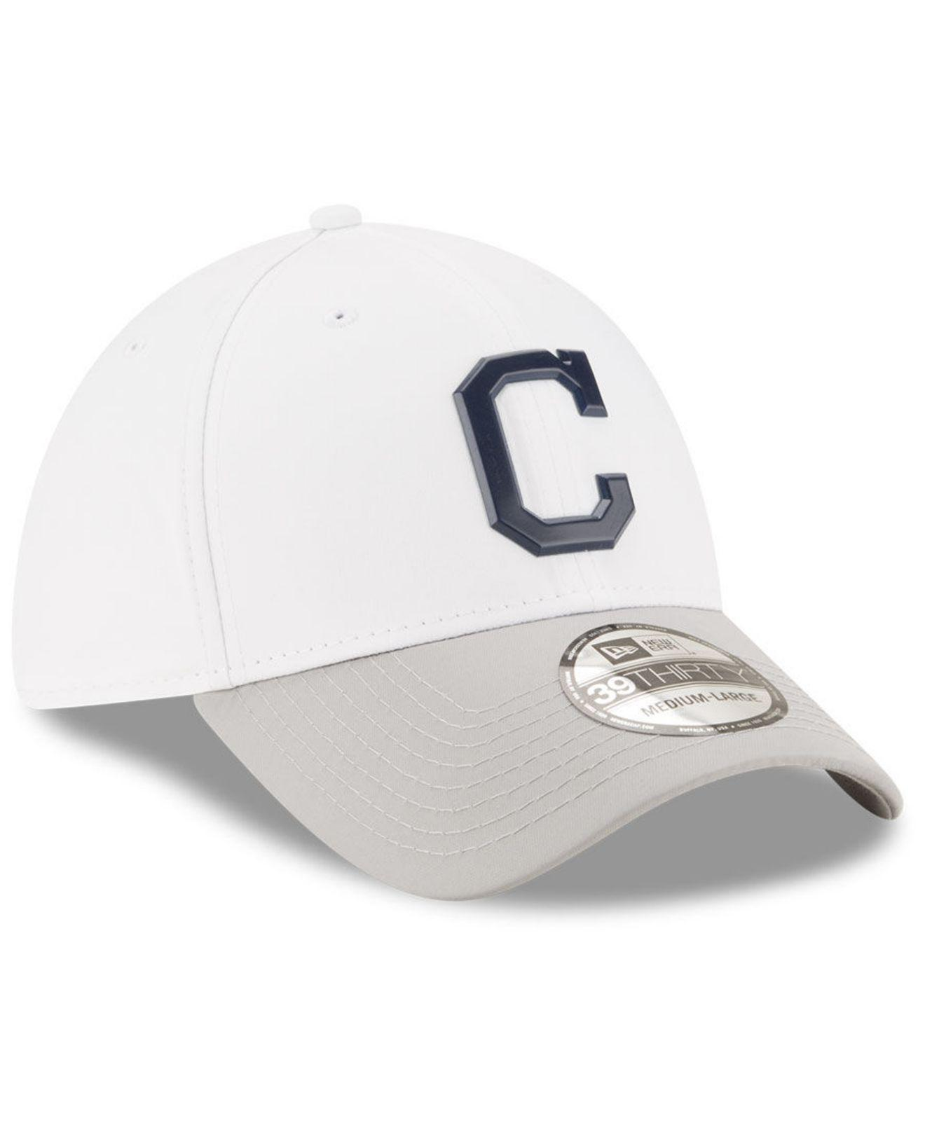 quality design 90f97 5a6f6 ... coupon code for ktz cleveland indians white batting practice 39thirty  cap for men lyst. view