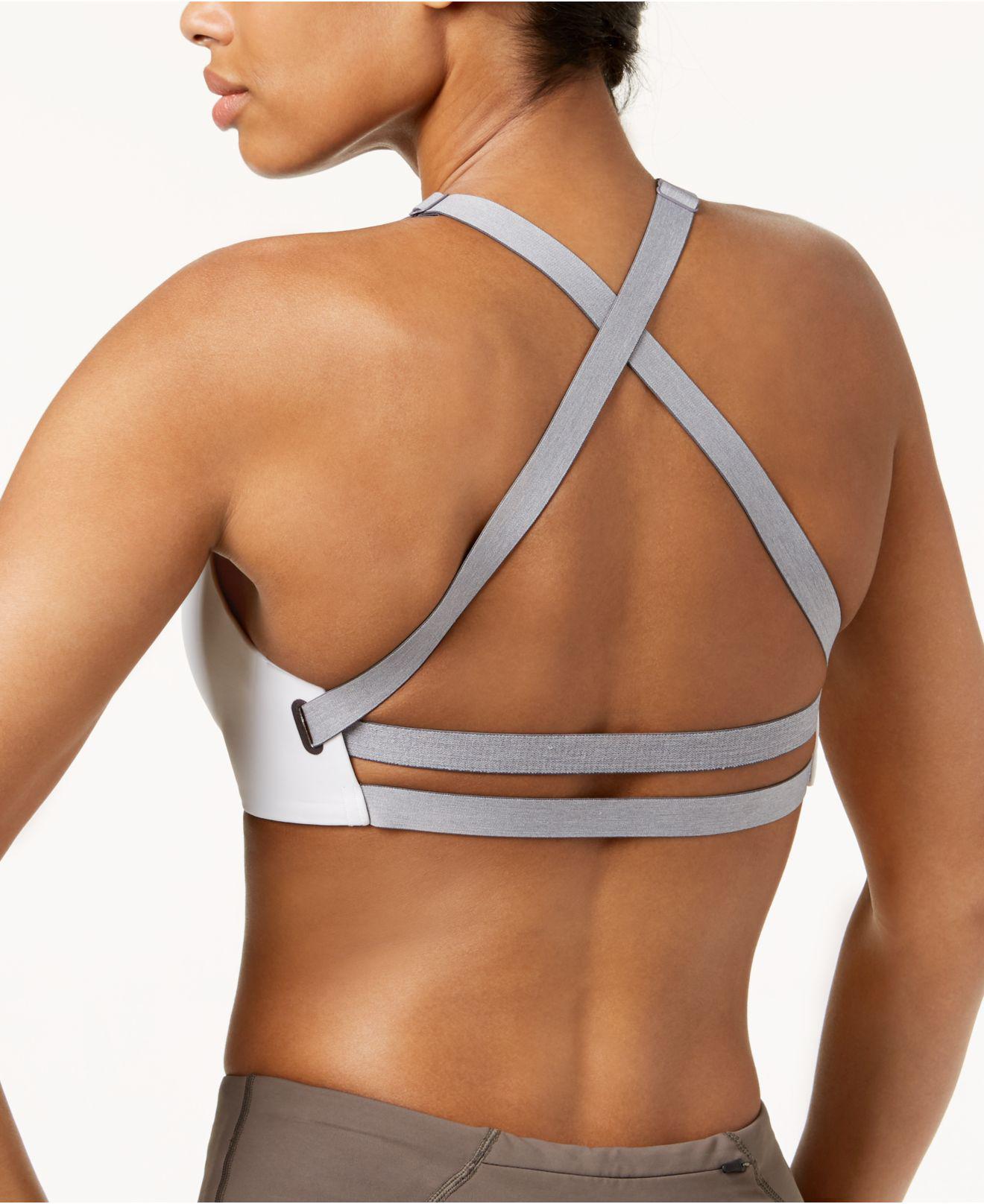 389bca27e0 Lyst - Nike Studio Dri-fit Cross-back Medium-support Sports Bra in White