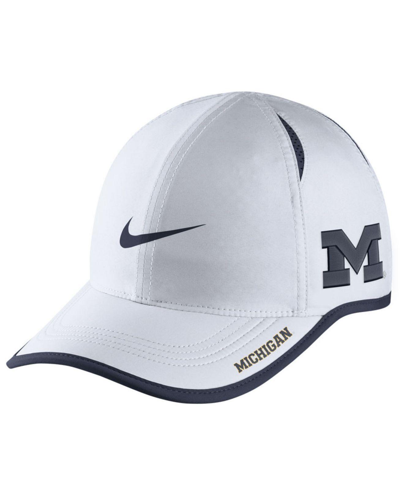 dfabcddd091 Lyst - Nike Michigan Wolverines Featherlight Cap in White for Men