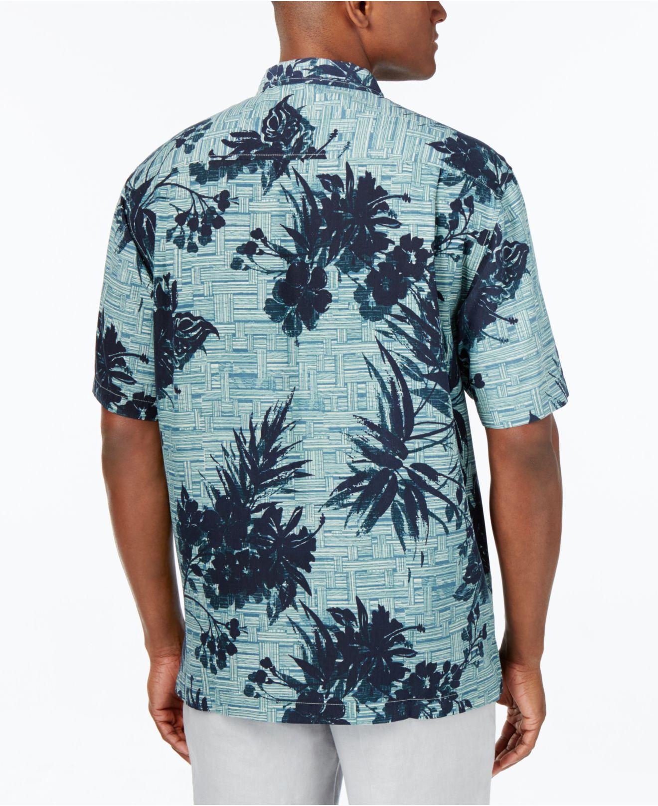 Lyst Tommy Bahama Men 39 S Bamboo Island Silk Shirt In Blue