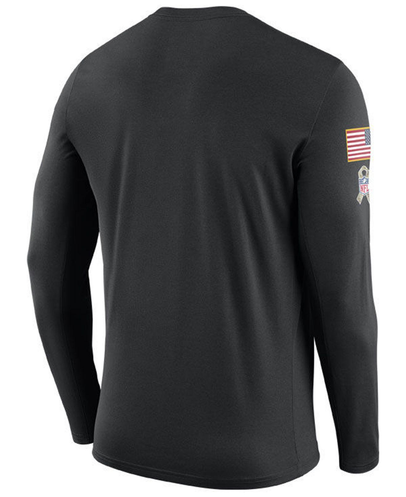 79148784af0 Lyst - Nike Pittsburgh Steelers Salute To Service Legend Long Sleeve T-shirt  in Black for Men