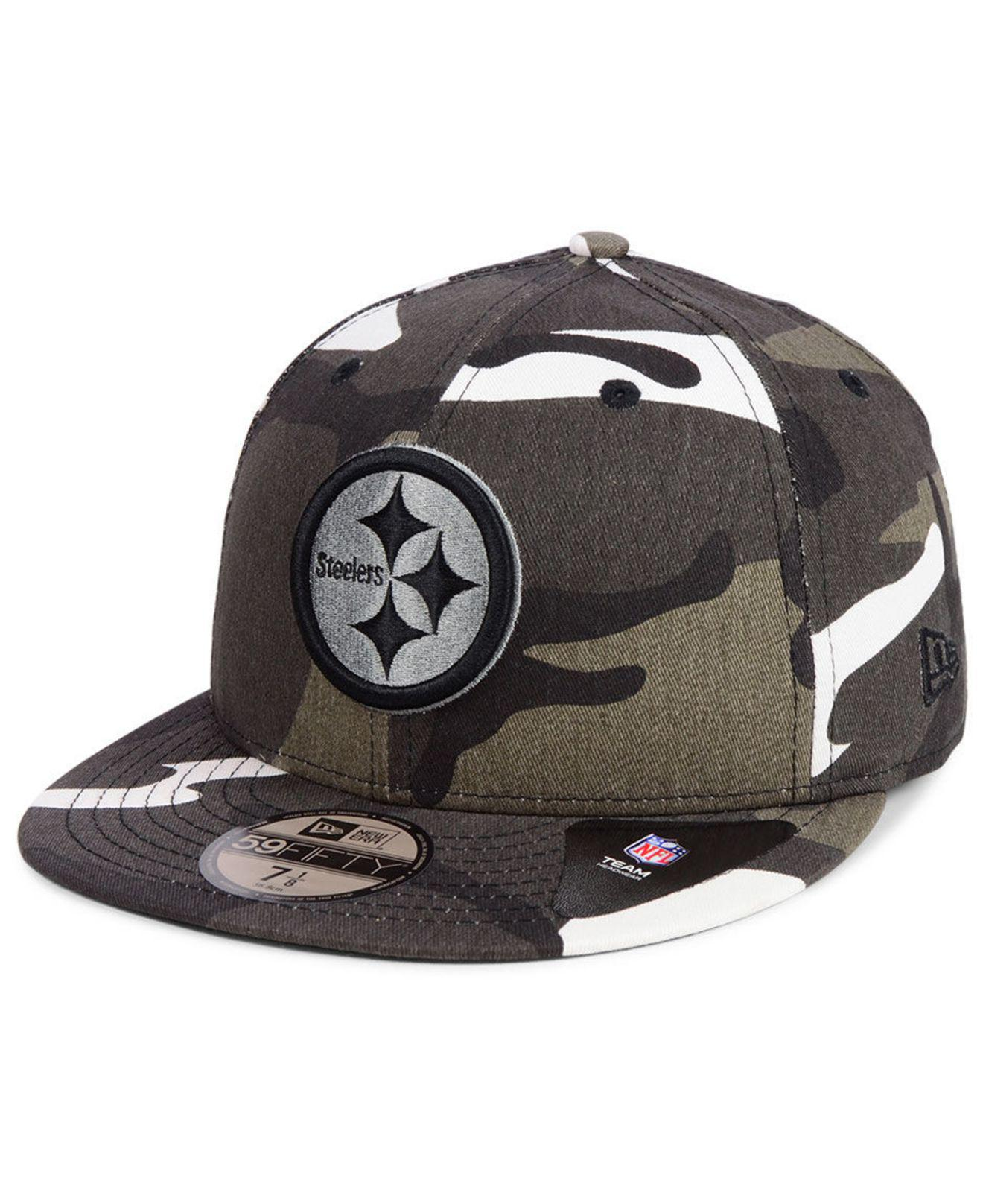 KTZ. Men s Black Pittsburgh Steelers Urban Prism Pack 59fifty-fitted Cap 16e876ba8