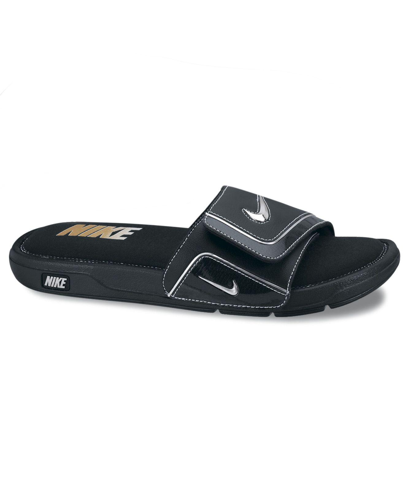 166902e9e Nike - Black Men s Comfort Slides From Finish Line for Men - Lyst. View  fullscreen