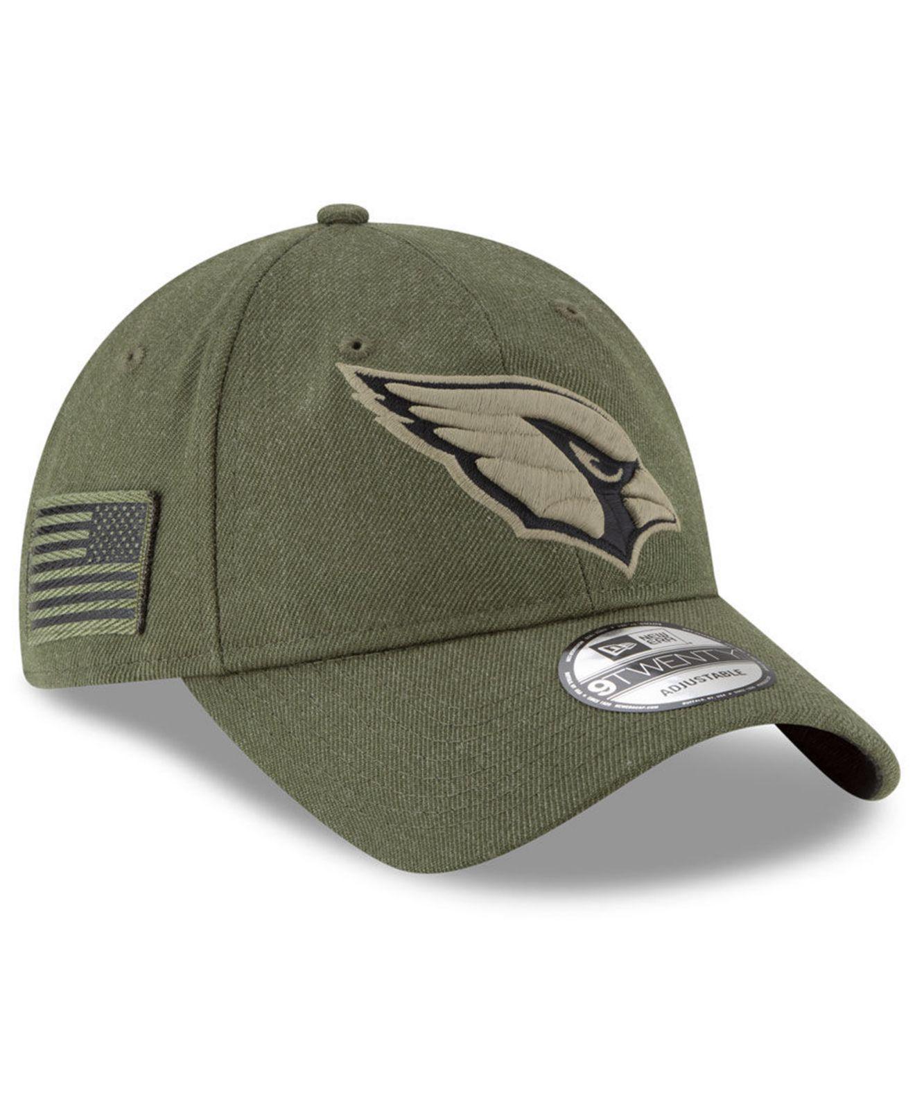 best sneakers 884f4 fc8e0 Lyst - KTZ Arizona Cardinals Salute To Service 9twenty Cap in Green ...