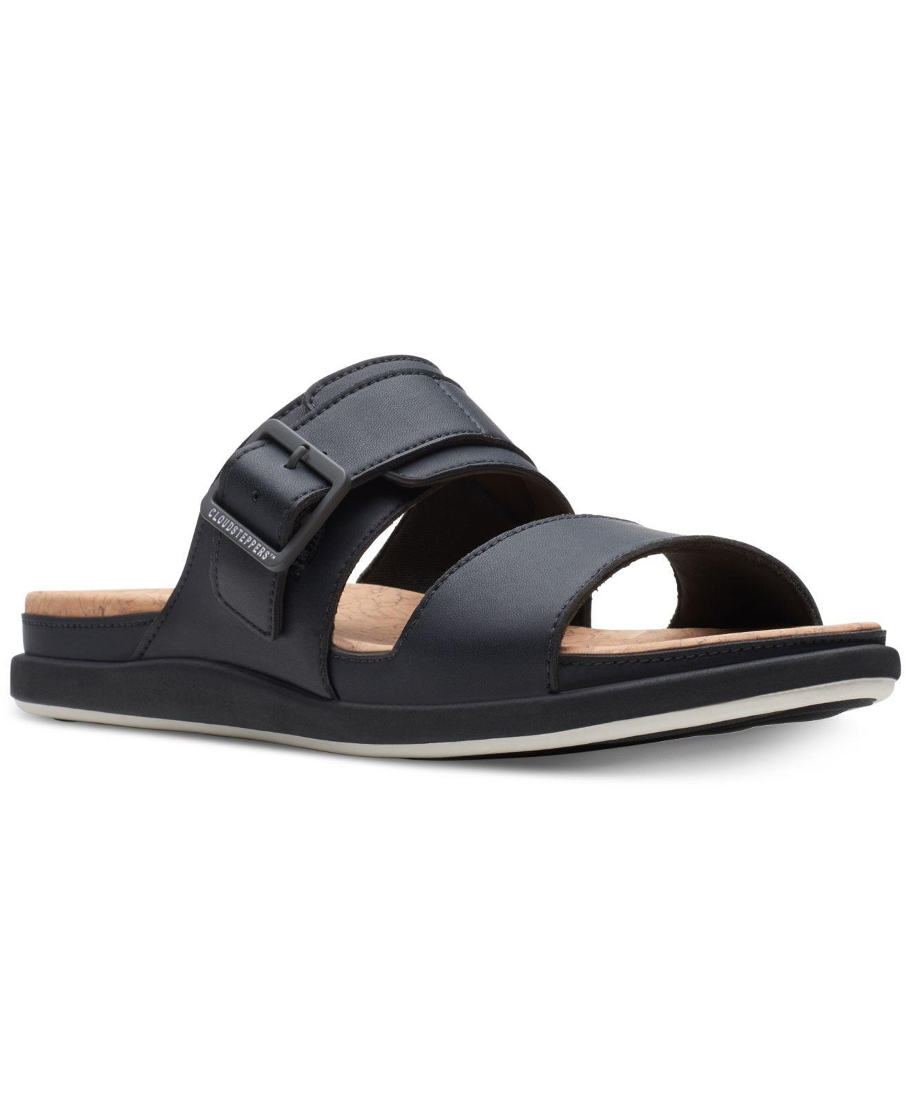 820ca932fe5 Lyst - Clarks Cloudsteppers Step June Tide Slide Sandals in Black
