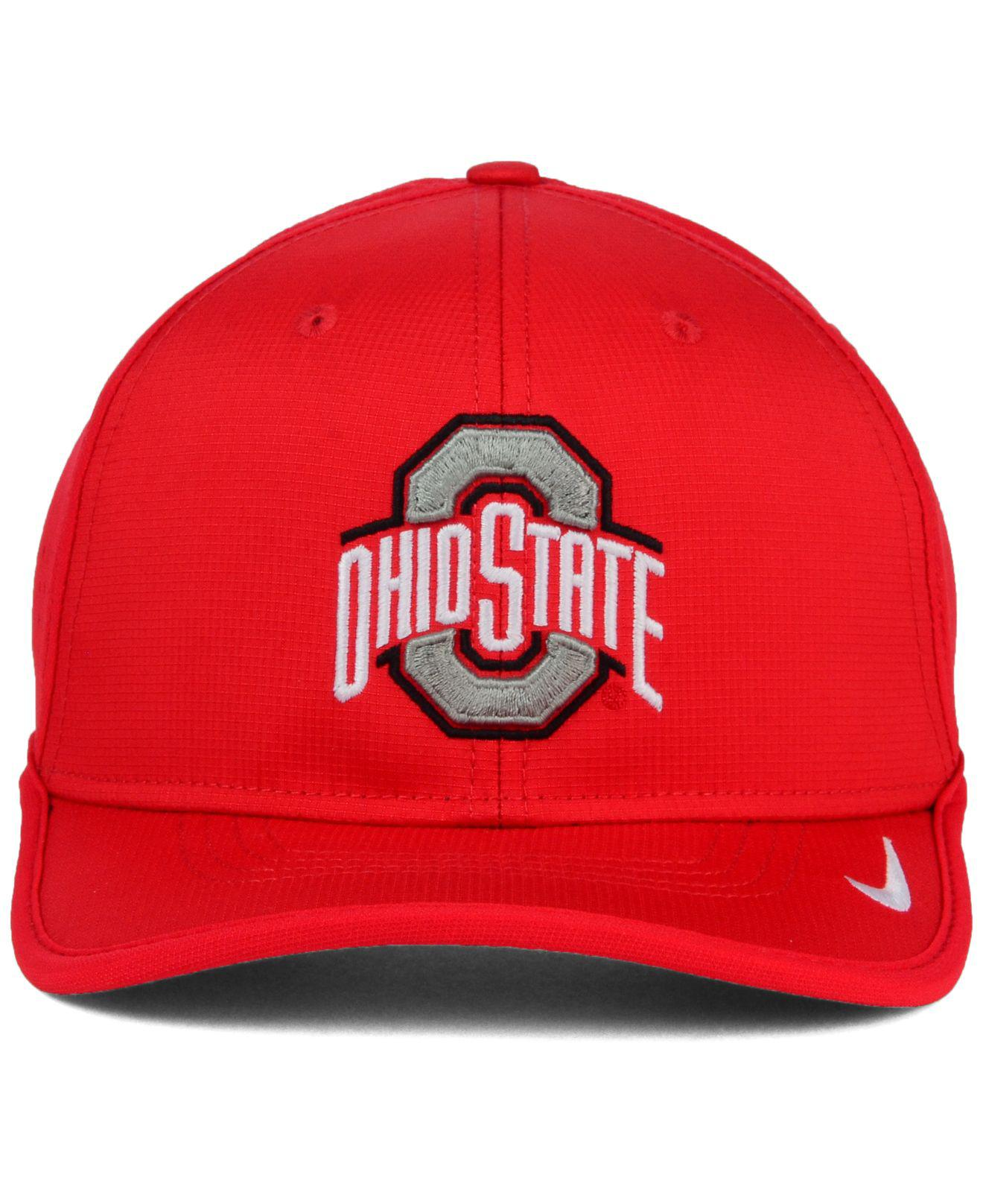 014d27092298ab ... usa lyst nike ohio state buckeyes vapor sideline coaches cap in red  9fd4e 78655