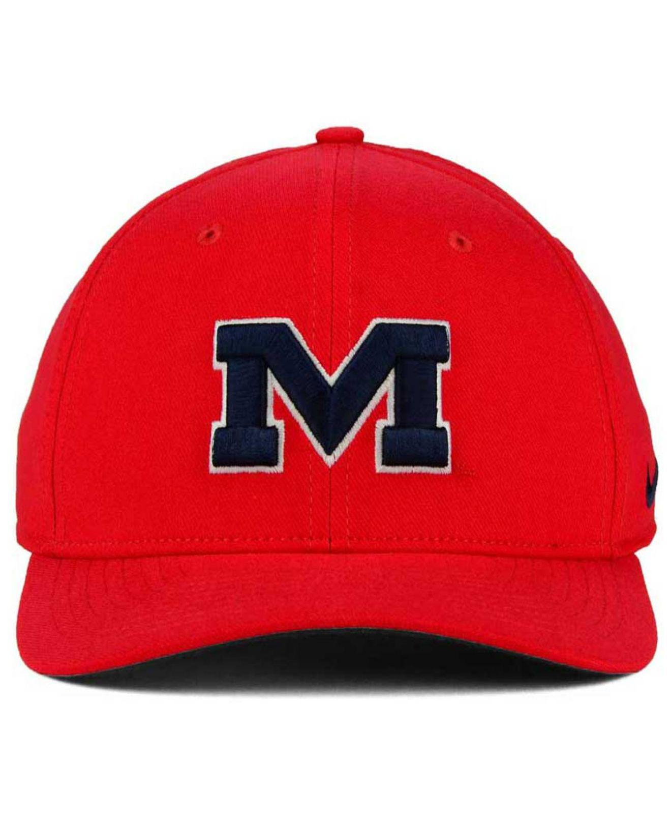 1f2c2316c90 Lyst - Nike Mississippi Rebels Classic Swoosh Cap in Red for Men