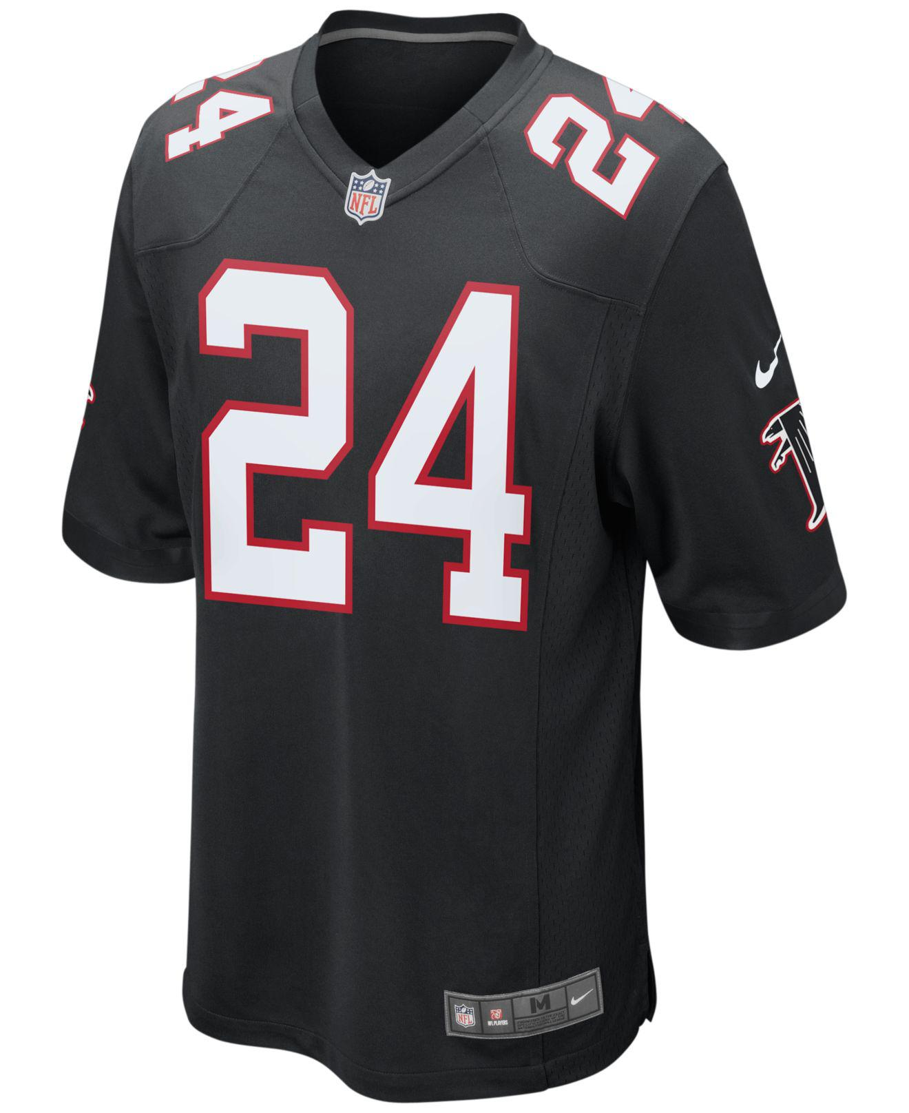 3225469f0 ... usa lyst nike mens devonta freeman atlanta falcons game jersey in black  for men b09cc 4de7e