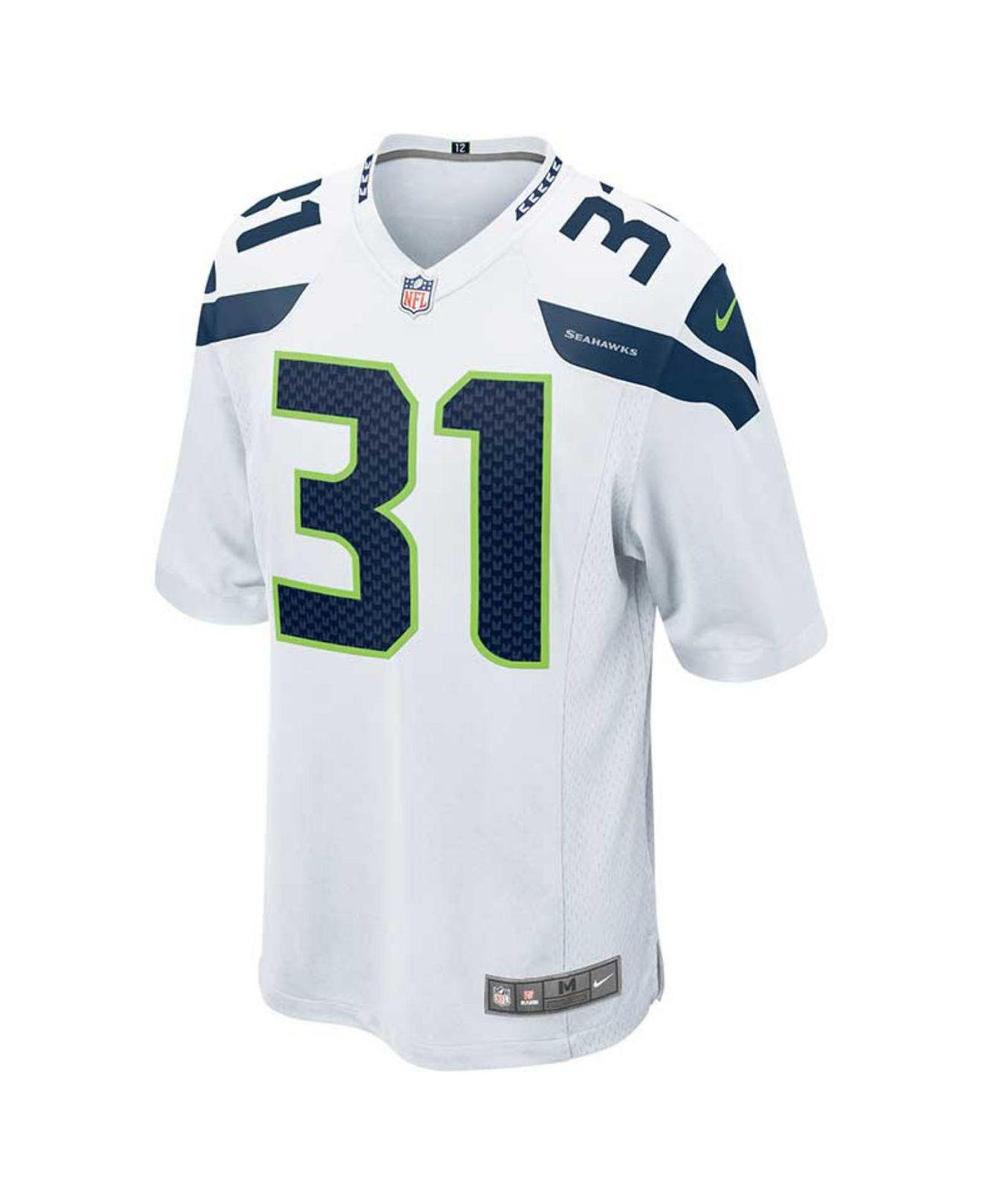 23083e95f5b ... czech lyst nike mens kam chancellor seattle seahawks game jersey in  white for men abbff 66621