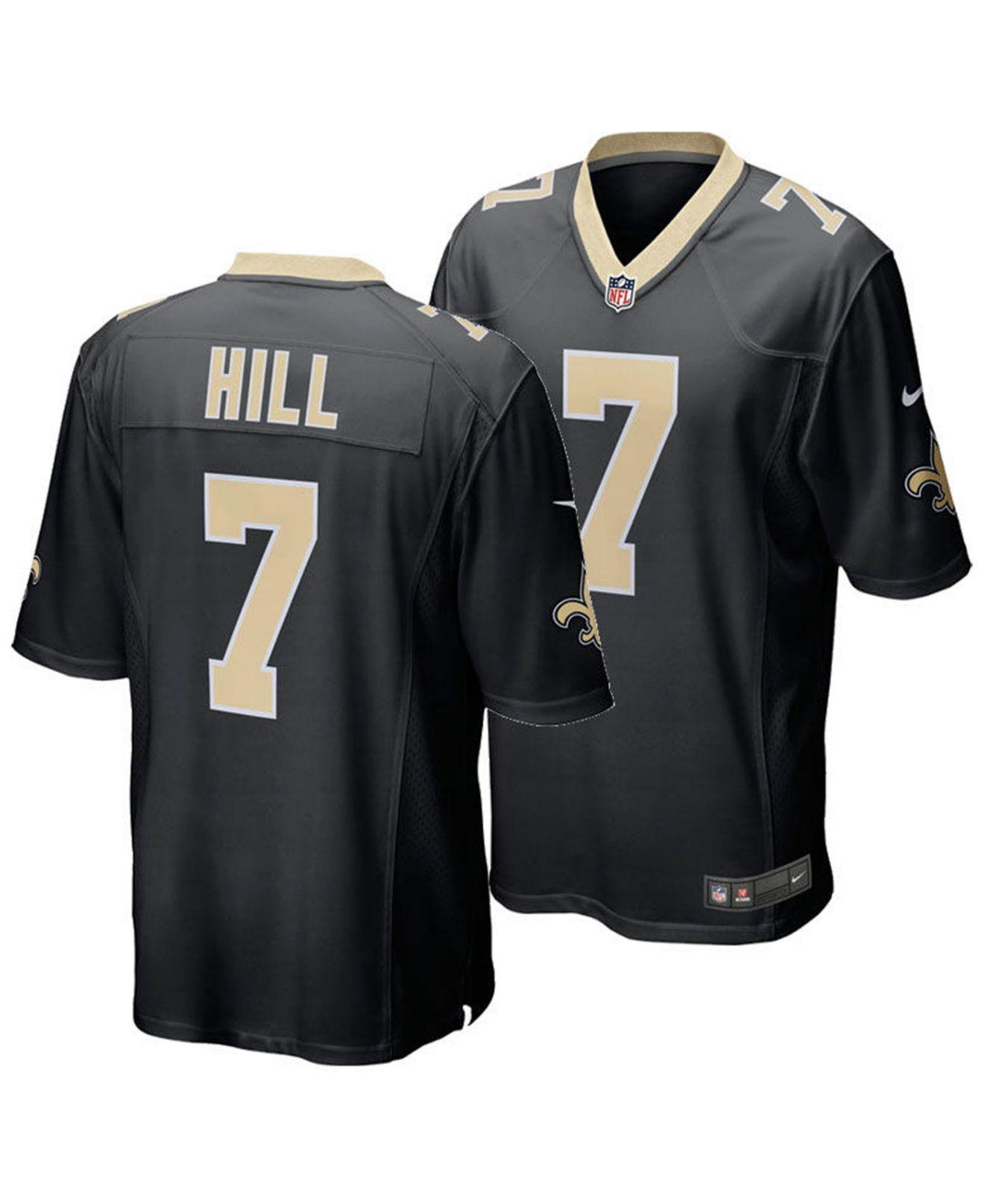 ffb613613ad Lyst - Nike Taysom Hill New Orleans Saints Game Jersey in Black for Men