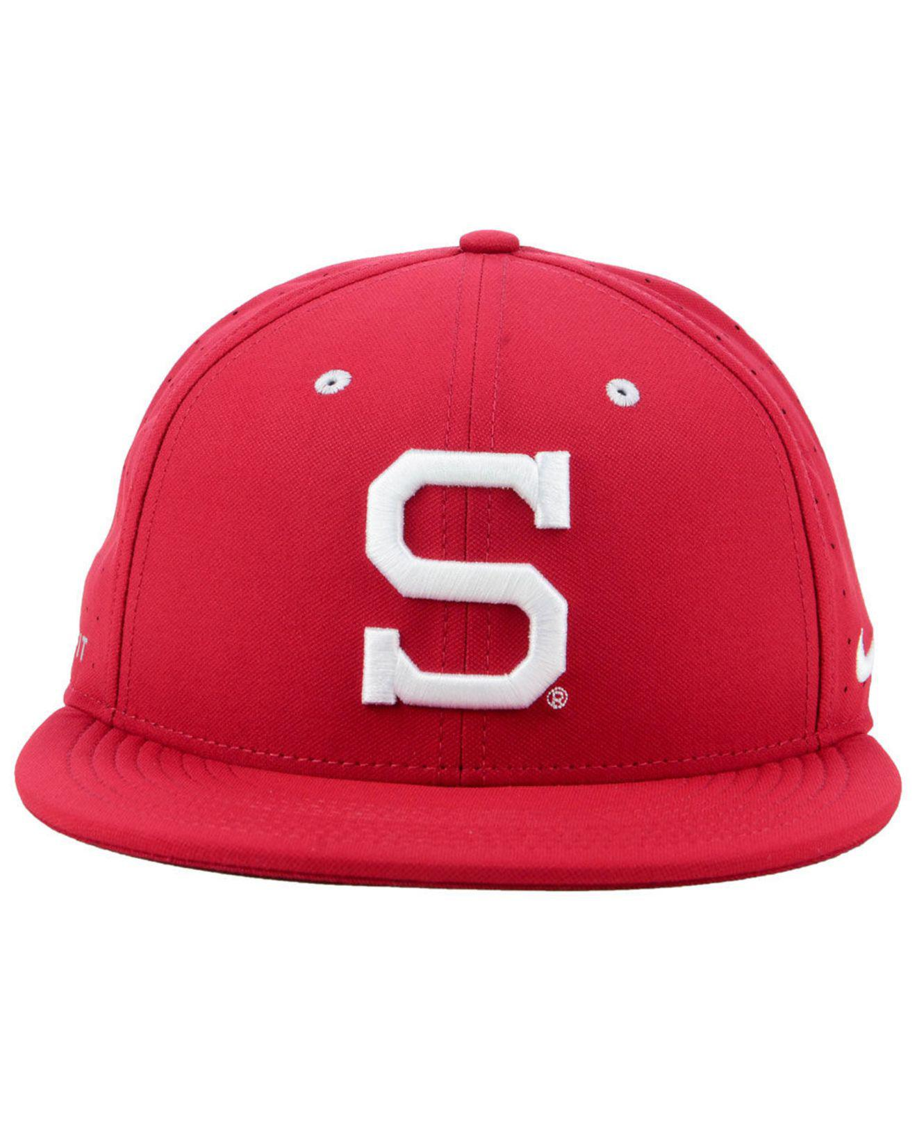 buy popular c6b9f f1f17 Nike - Red Stanford Cardinal Aerobill True Fitted Baseball Cap for Men -  Lyst. View fullscreen
