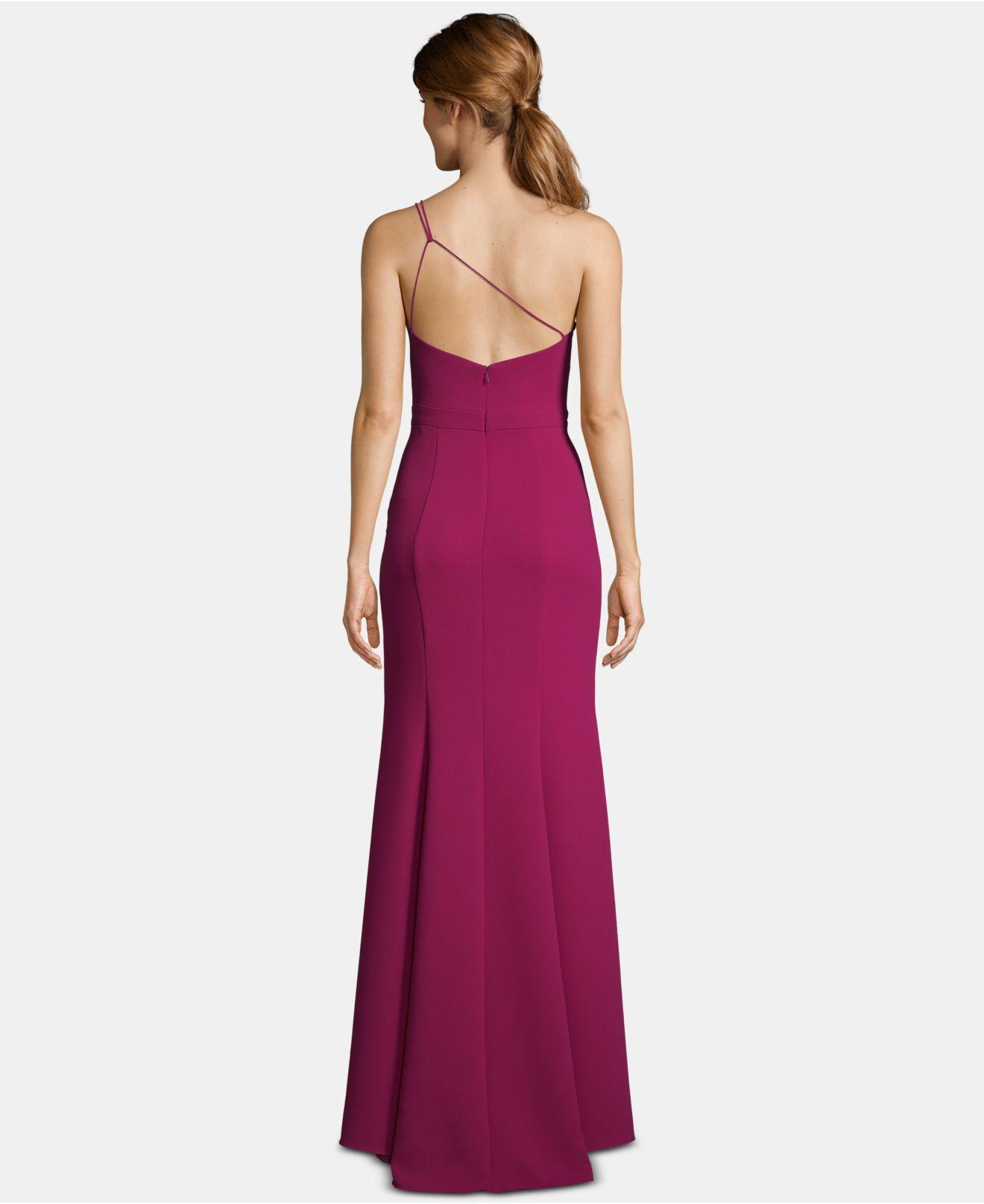 051435836045 Lyst - Xscape One-shoulder Crepe Gown in Purple