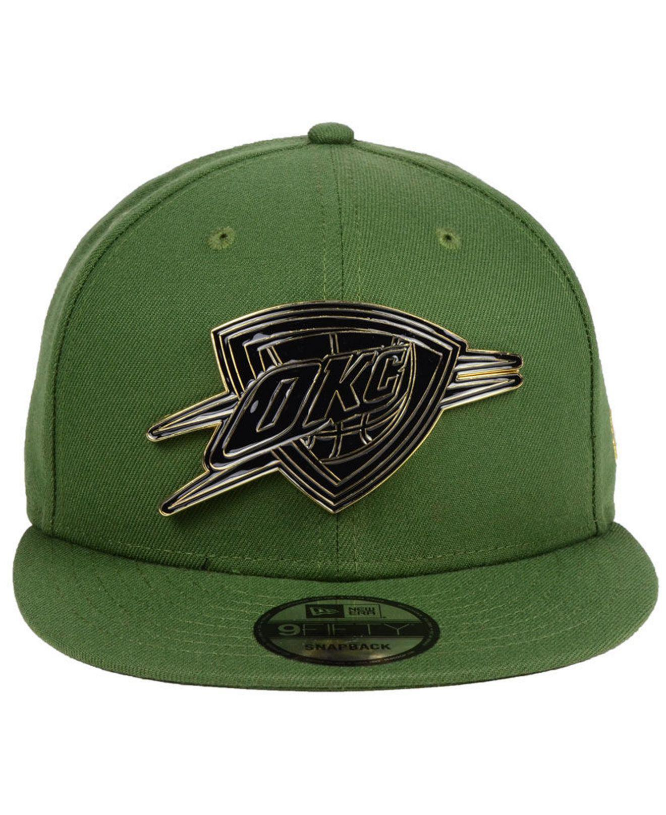 sports shoes d4b49 e7205 Lyst - KTZ Oklahoma City Thunder Enamel Badge 9fifty Snapback Cap in Green  for Men