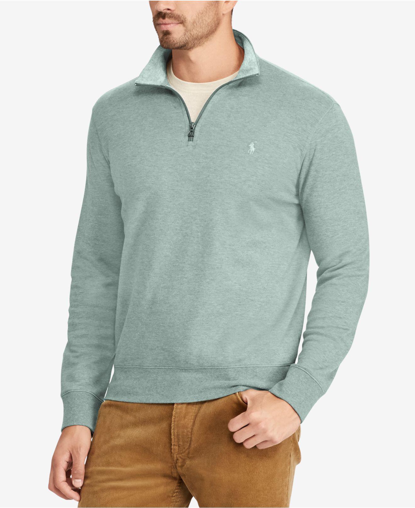 6bbe4a8565718 Lyst - Polo Ralph Lauren Men s Jersey Half-zip Pullover Shirt in ...
