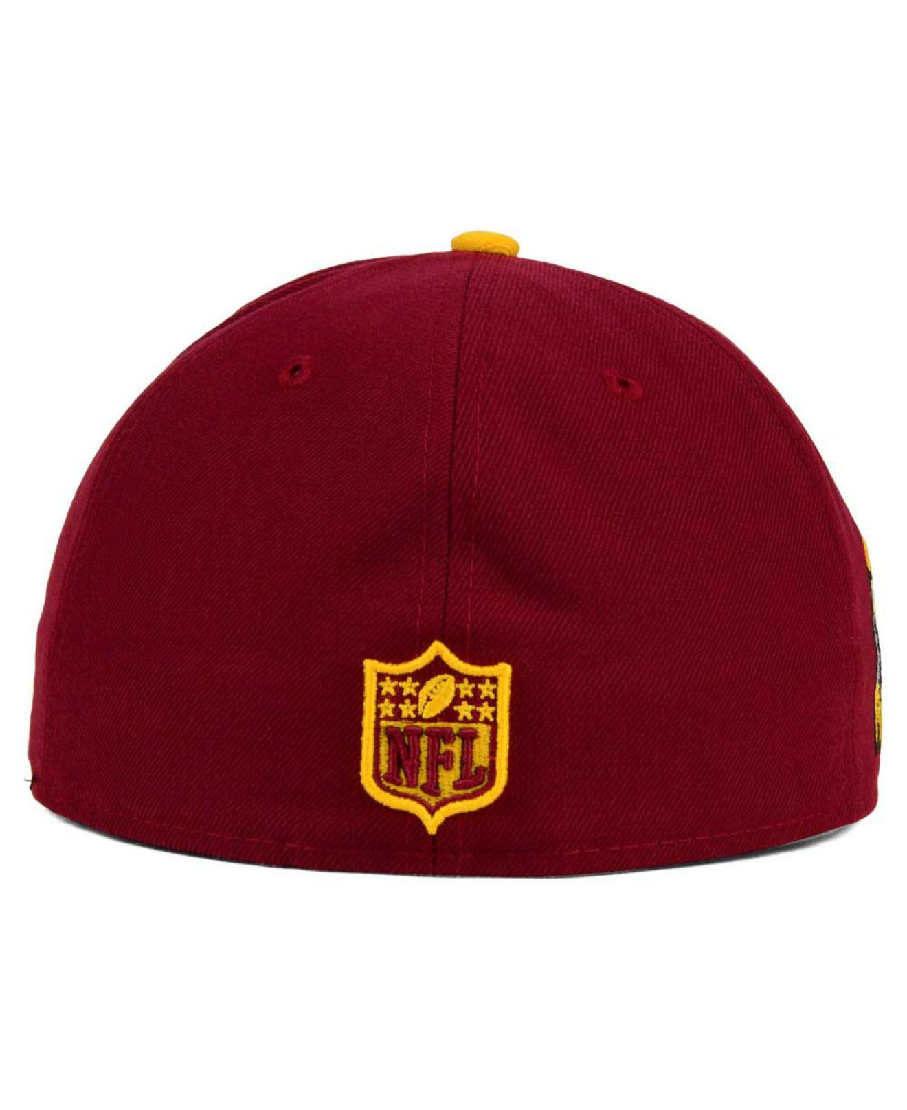 official photos ee324 4582f KTZ Washington Redskins State Flective Redux 59fifty Cap in Red for ...