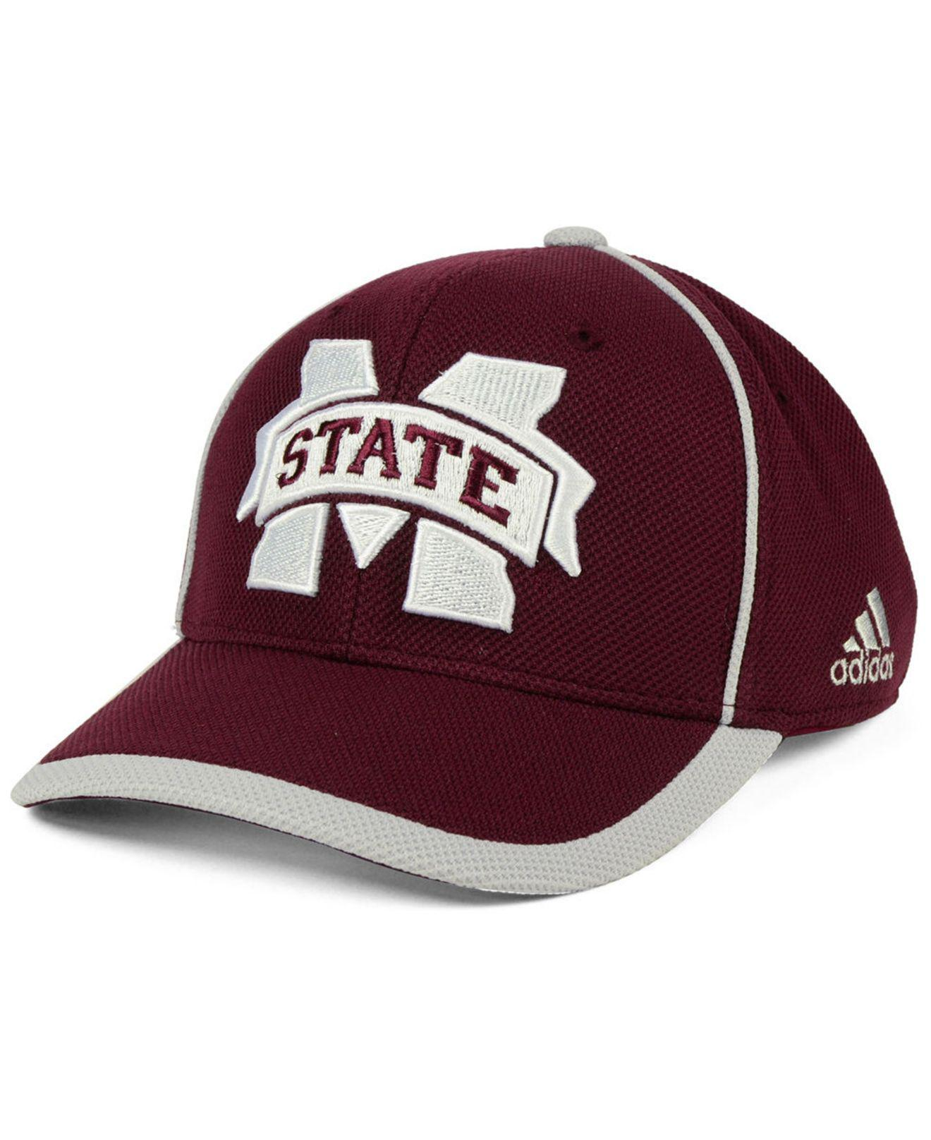 new product e29be 3ef10 adidas. Men s Red Mississippi State Bulldogs Piping Hot Adjustable Cap