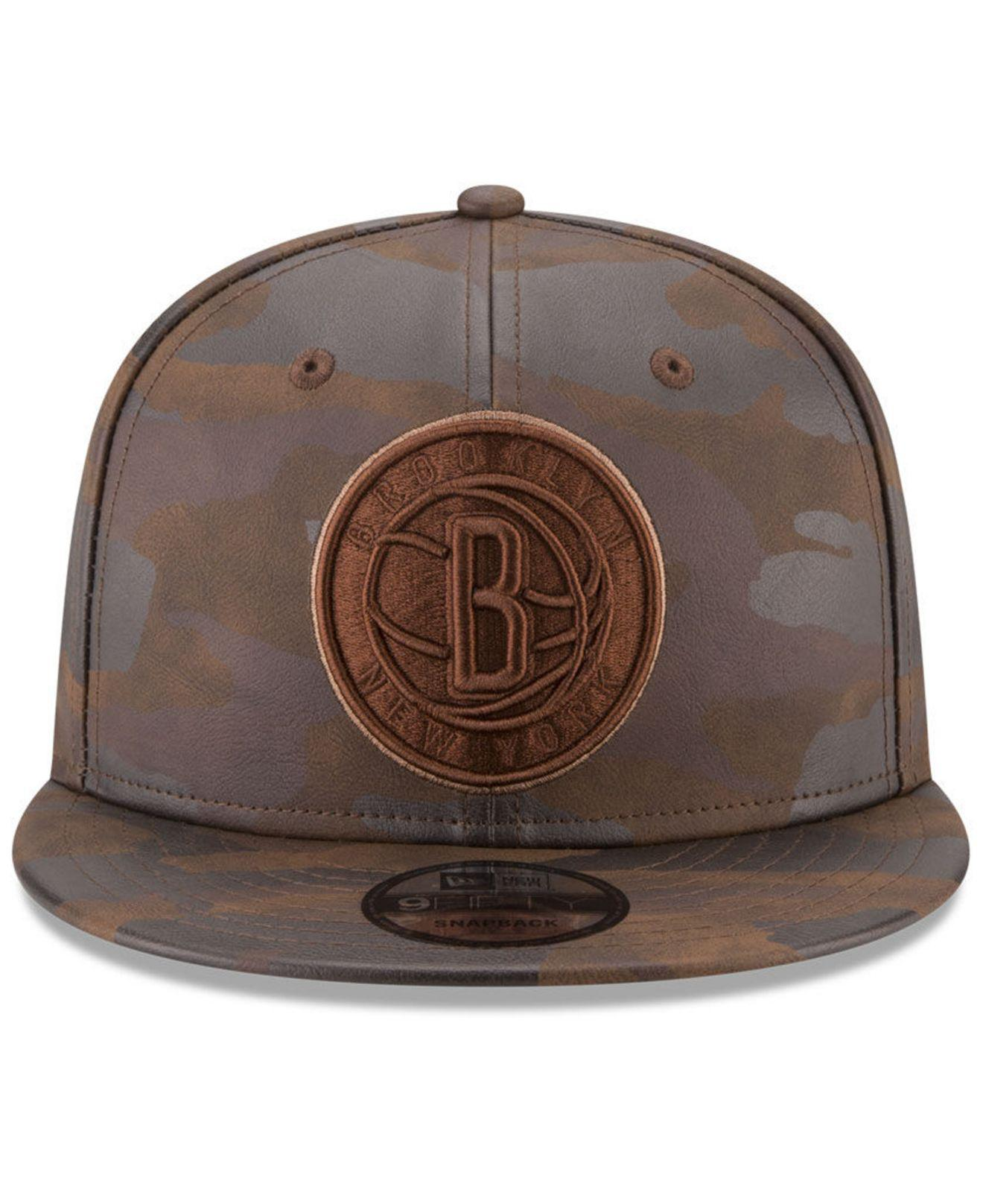 new product bfd0a 7ef76 ... sweden lyst ktz brooklyn nets butter so camo 9fifty snapback cap in  brown 1ecca 09f73