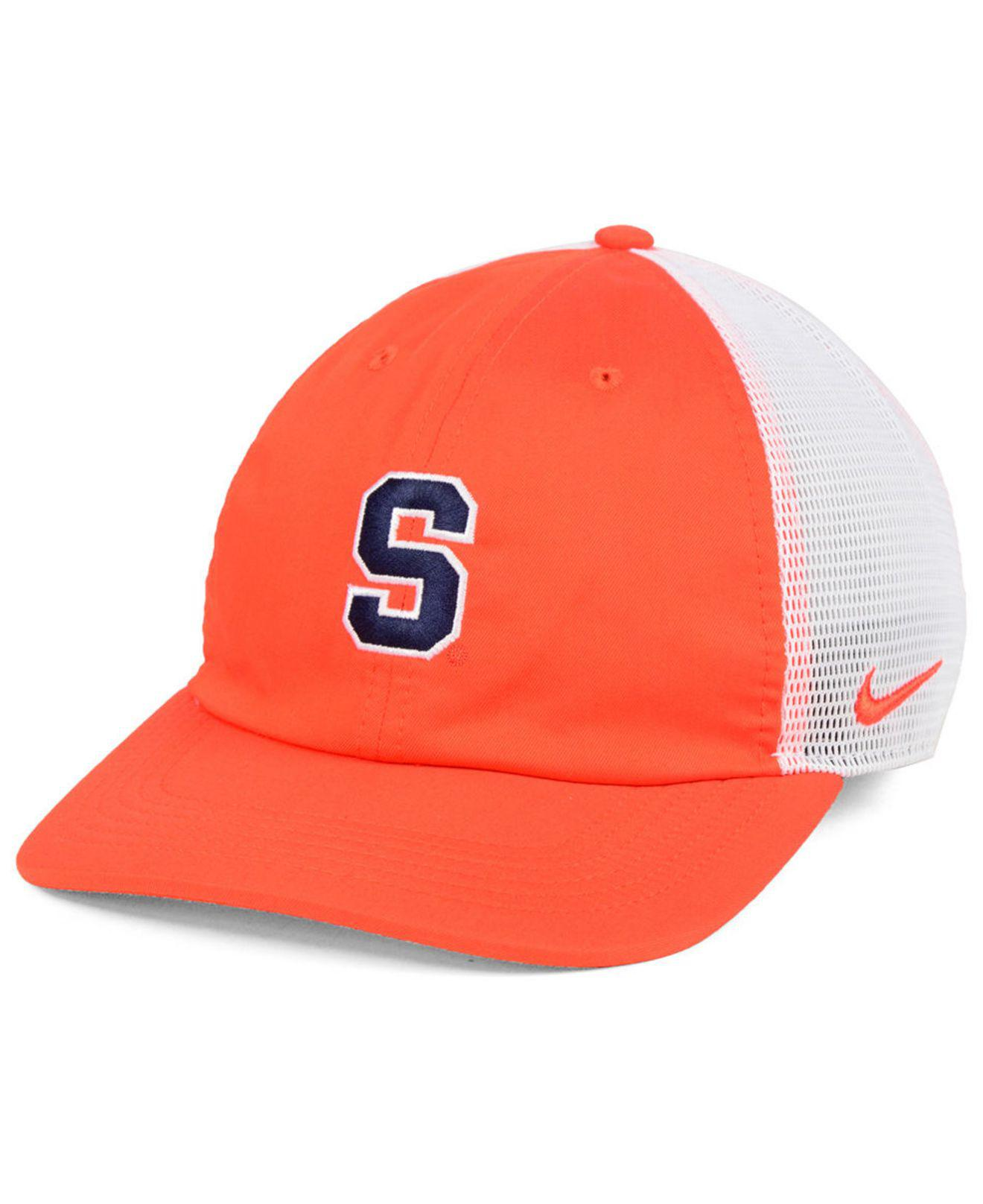 858c70b593af4 ... closeout nike. mens syracuse orange h86 trucker snapback cap 33814 790eb