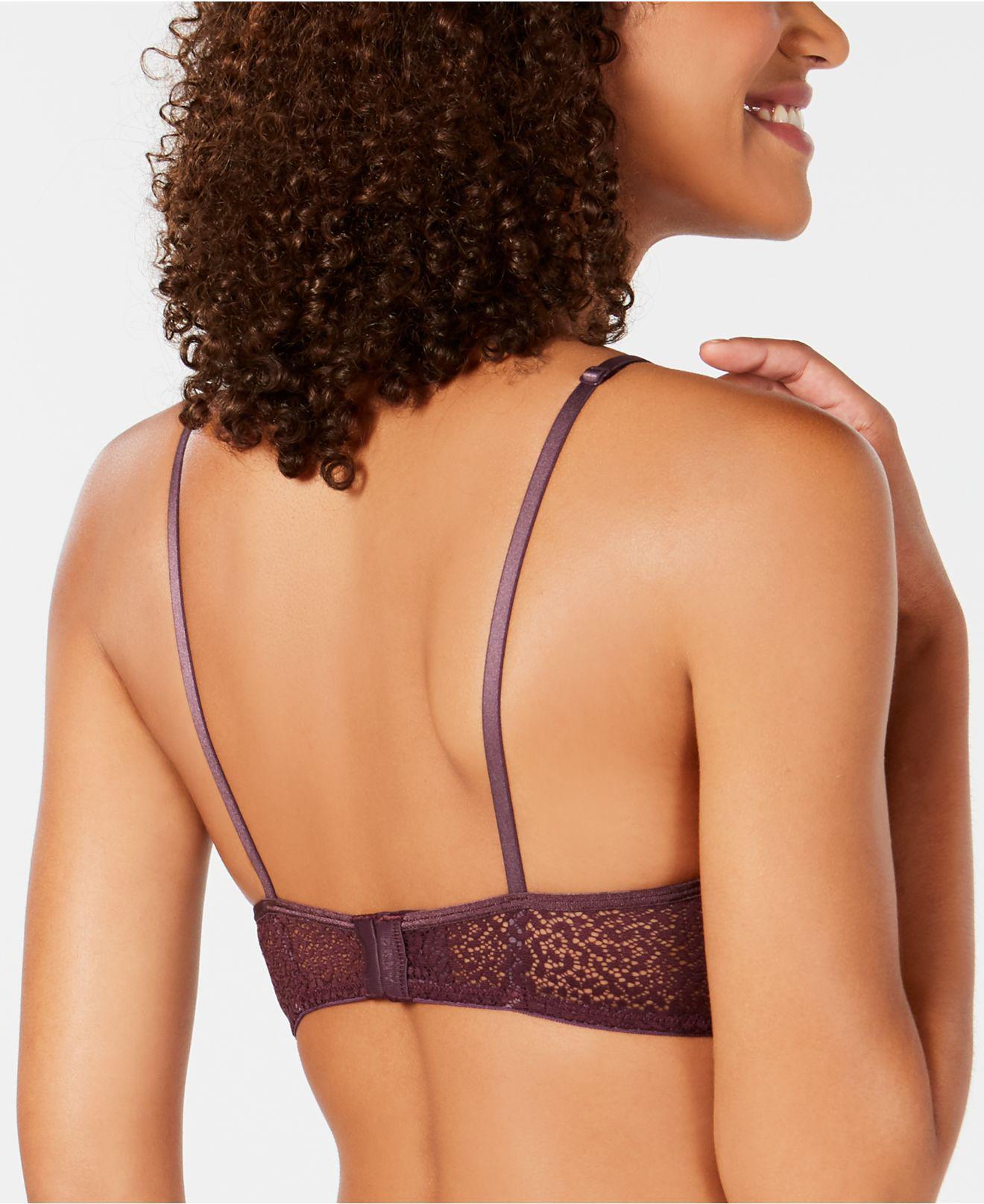 e335d8c6ed977 Lyst - DKNY Modern Lace Sheer-crochet Bra Dk4020 in Purple