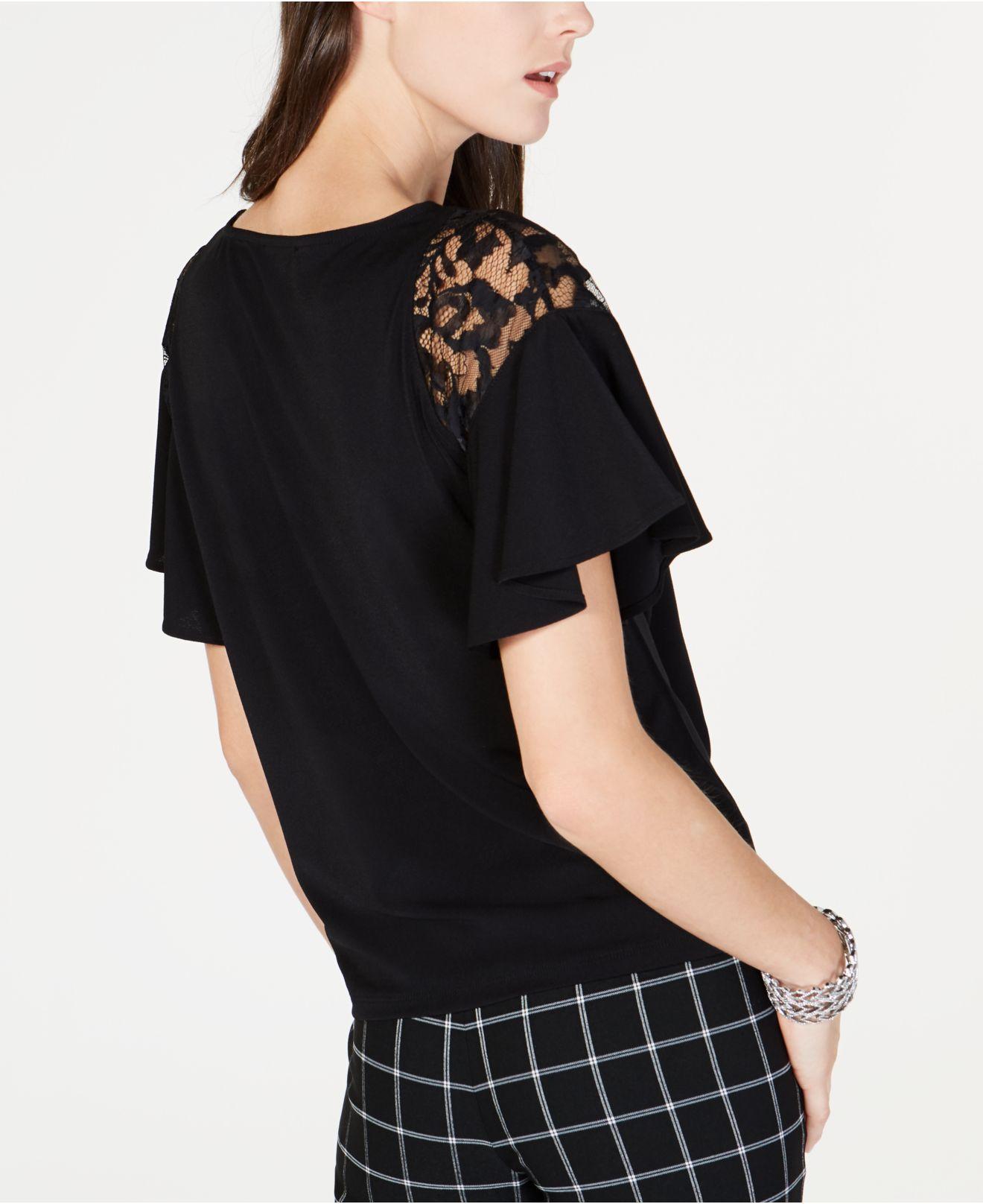 da8add36ba6b7 Lyst - INC International Concepts I.n.c. Short-sleeve Lace-detail Ruffle  Shirt