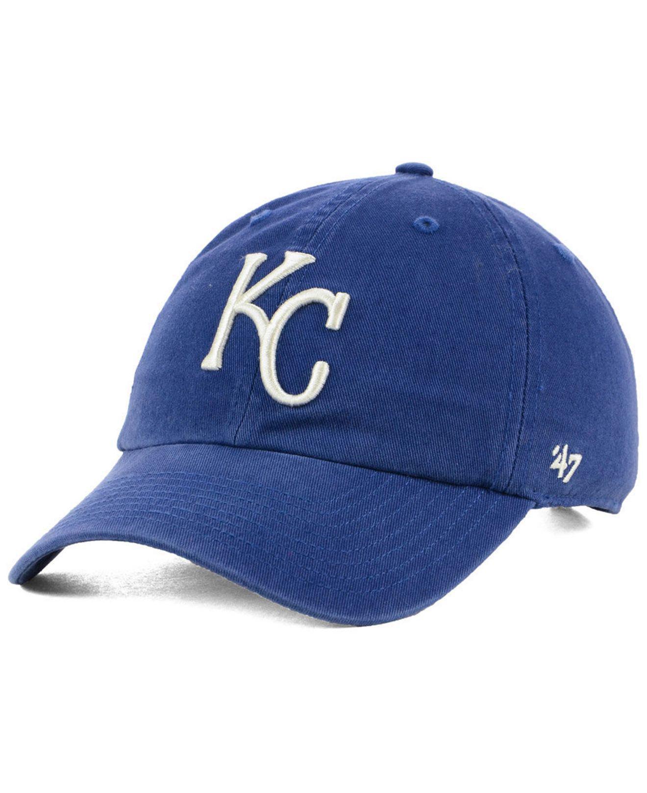 d49d8cd1366 Lyst - 47 Brand Kansas City Royals Timber Blue Clean Up Cap in Blue ...