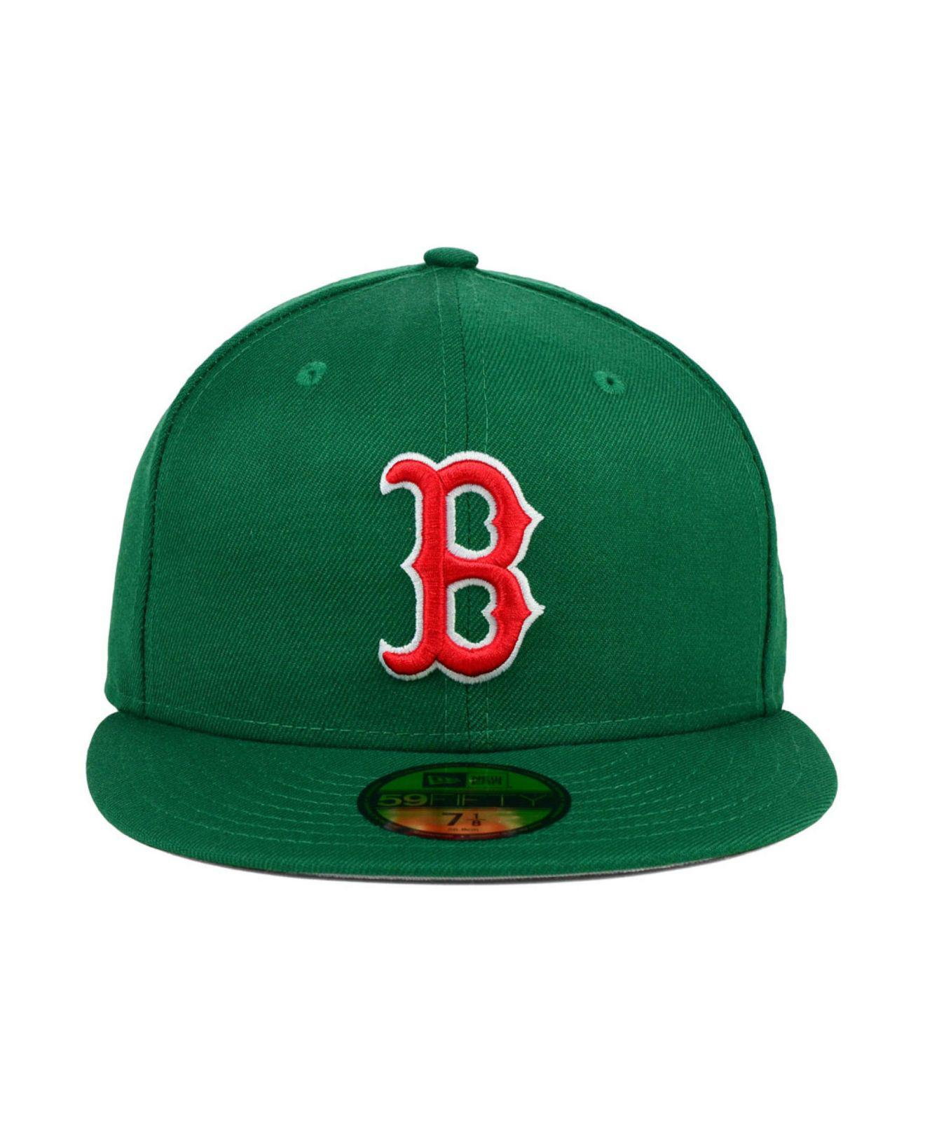 sports shoes ce5e8 0a51e ... france czech lyst ktz boston red sox mlb cooperstown 59fifty cap in  green for men 5ba42