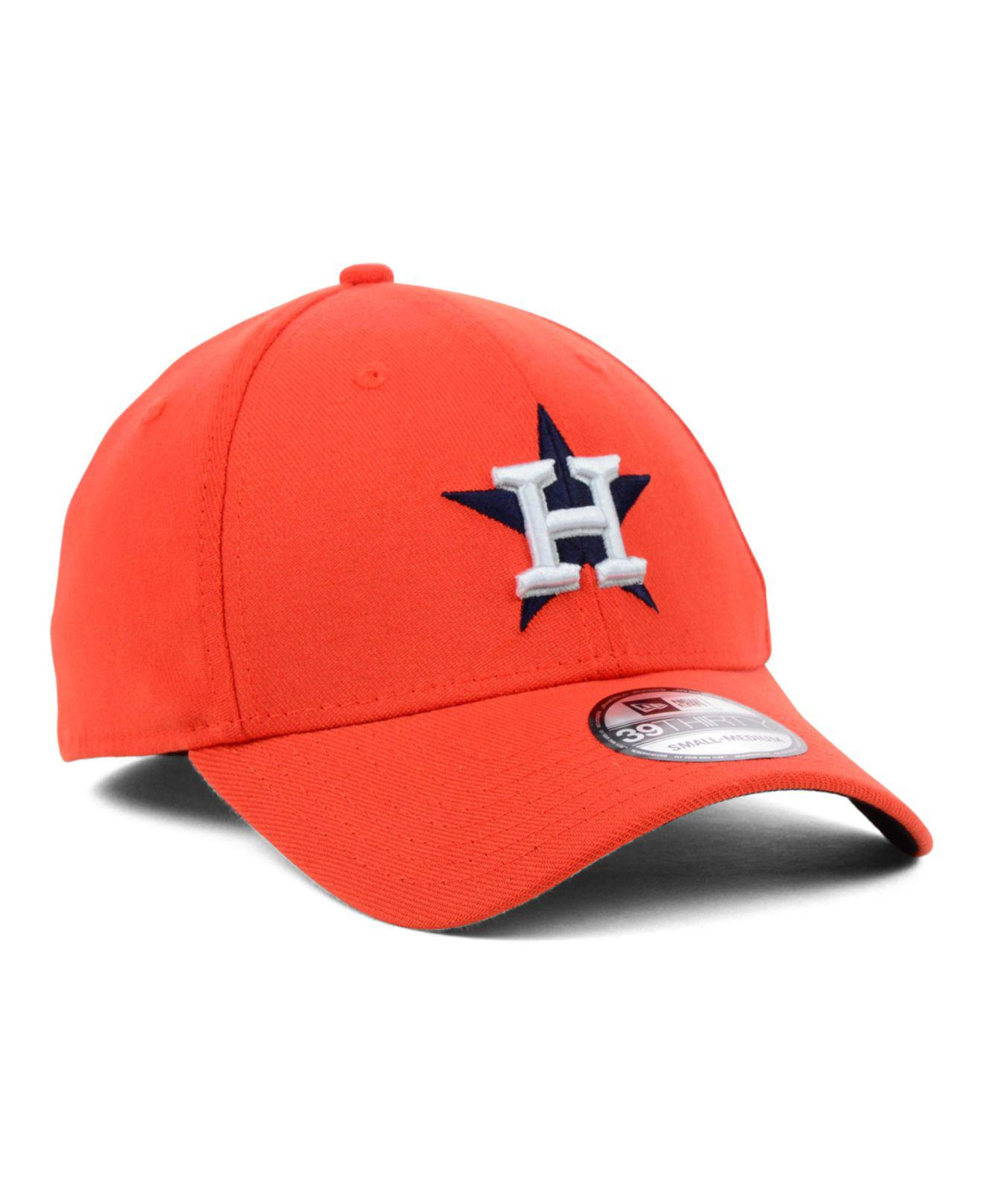 the latest d5f1a 785d6 KTZ - Orange Houston Astros Mlb Team Classic 39thirty Cap for Men - Lyst.  View fullscreen