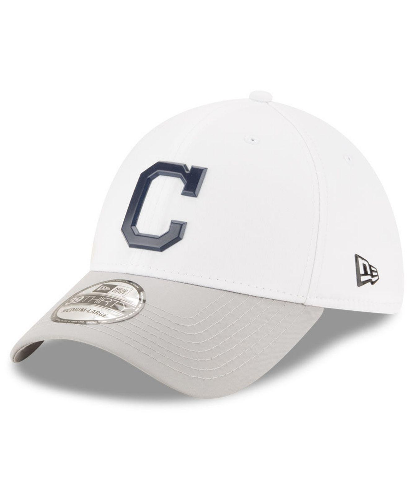 huge selection of 6820d 7959d ... order ktz. mens cleveland indians white batting practice 39thirty cap  86306 67f43