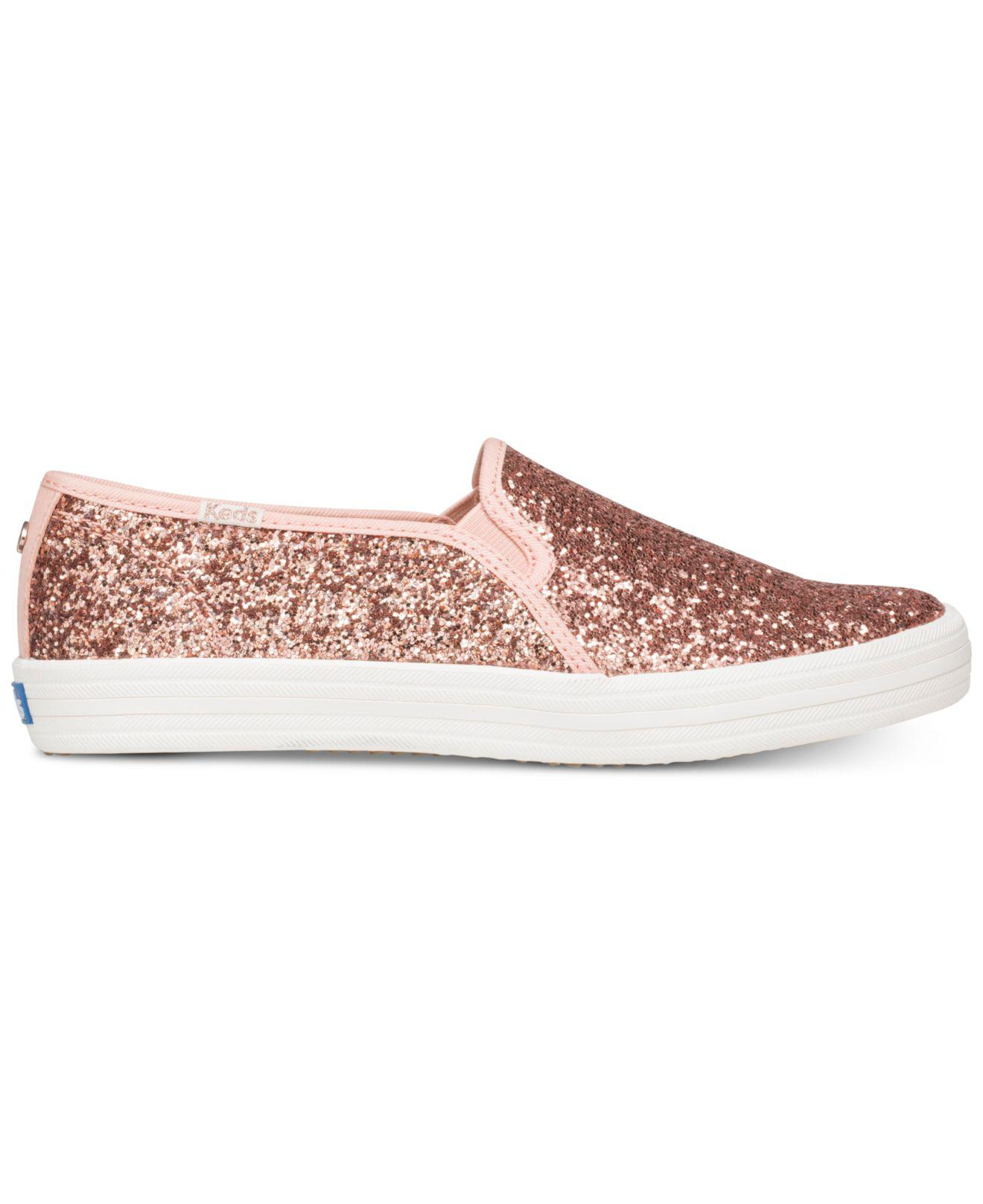 62711a8c5065 Kate Spade Keds For Double Decker Glitter Sneakers in Pink - Lyst