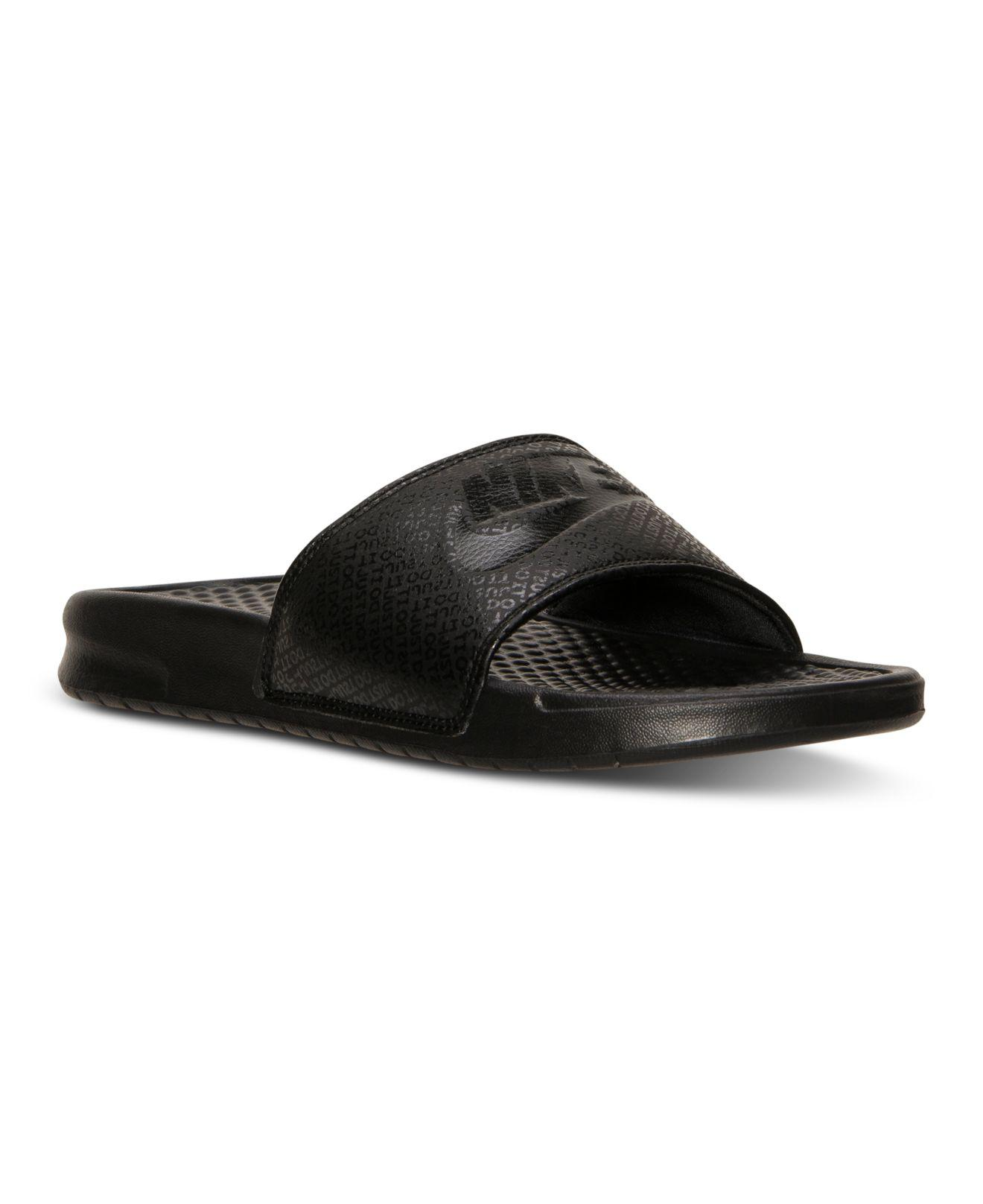 6047bfa4ece318 Lyst - Nike Men s Benassi Jdi Slide Sandals From Finish Line in ...
